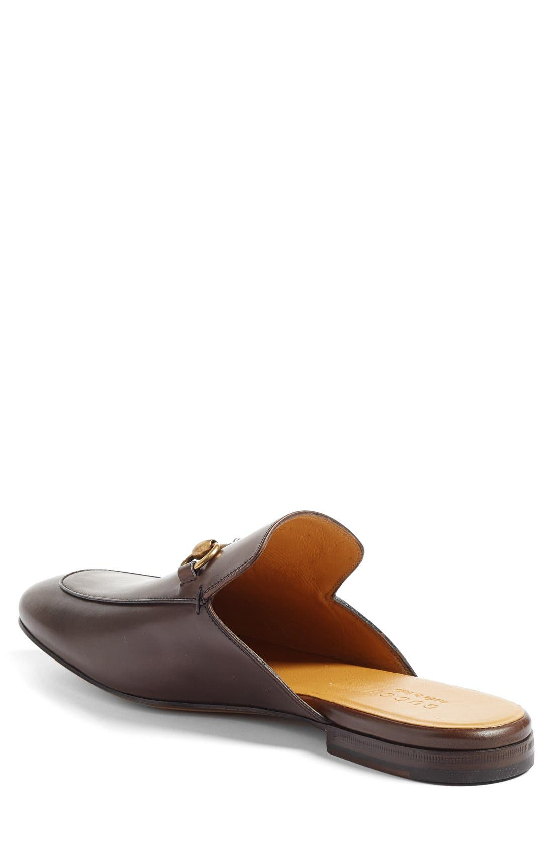 Straw Princetown Slipper,                             Alternate thumbnail 2, color,                             Brown Leather