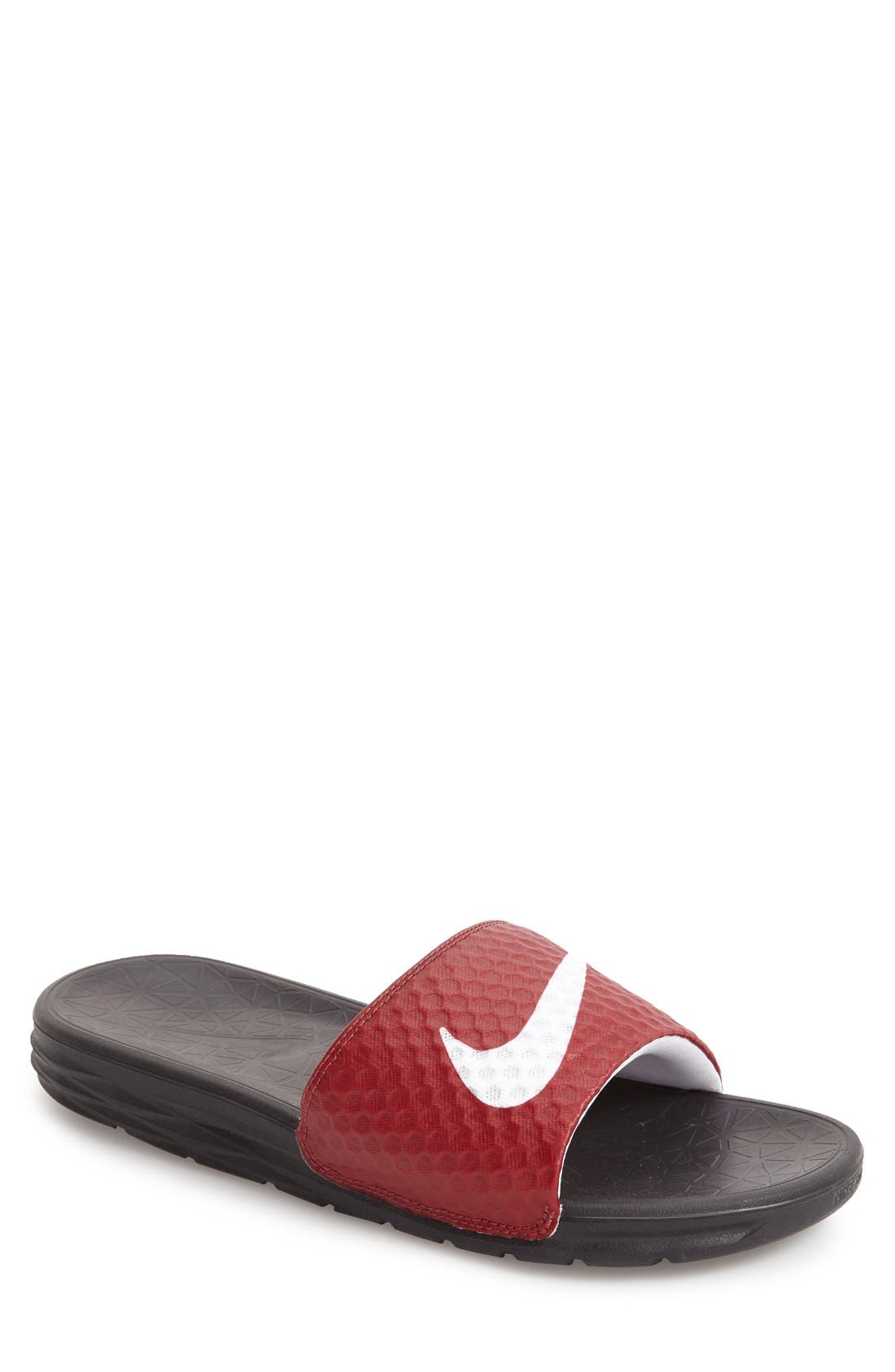 'Benassi Solarsoft 2' Slide Sandal,                         Main,                         color, Team Red/ White/ Black