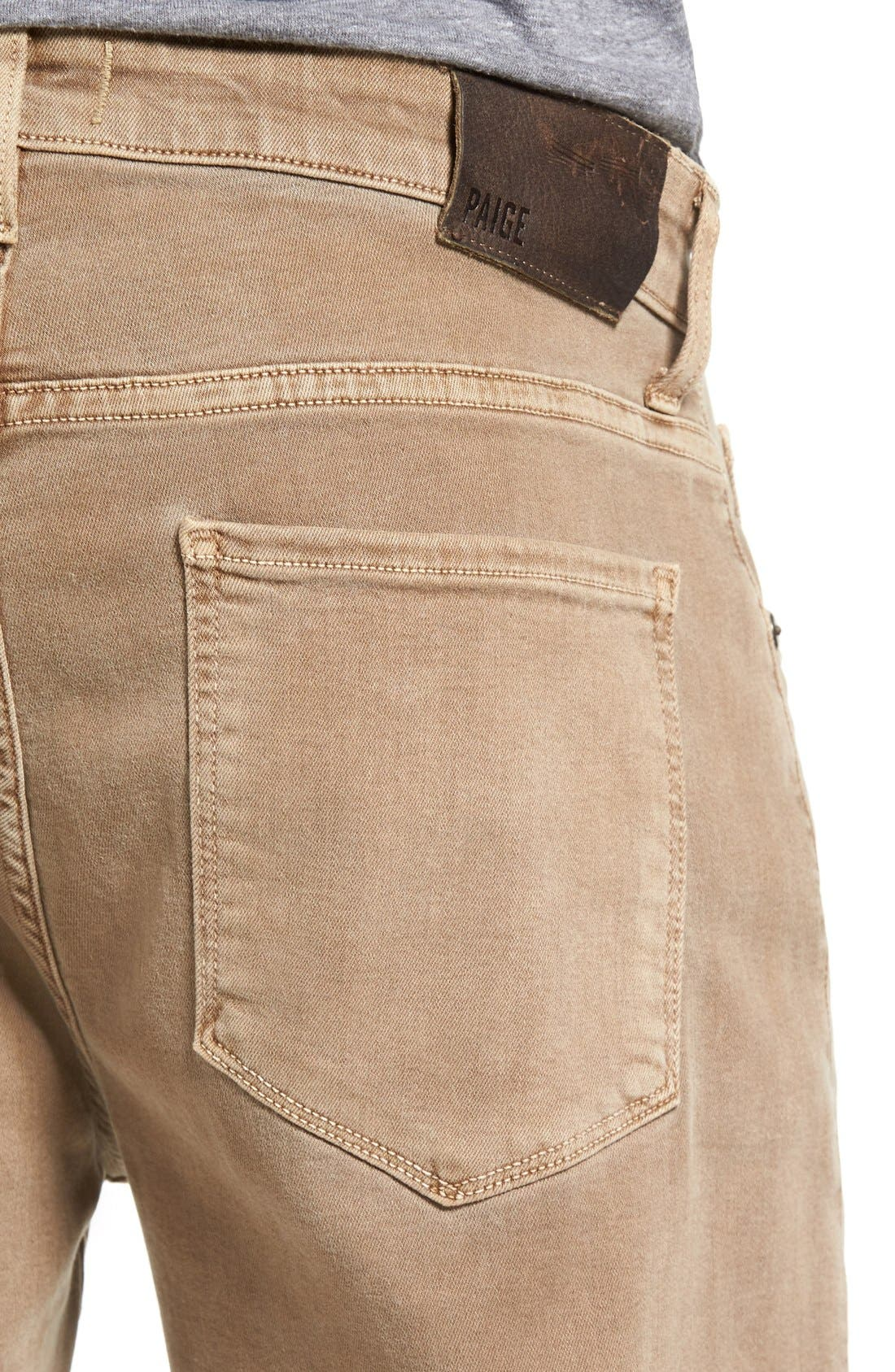 Transcend - Federal Slim Straight Leg Jeans,                             Alternate thumbnail 4, color,                             Fennel Seed