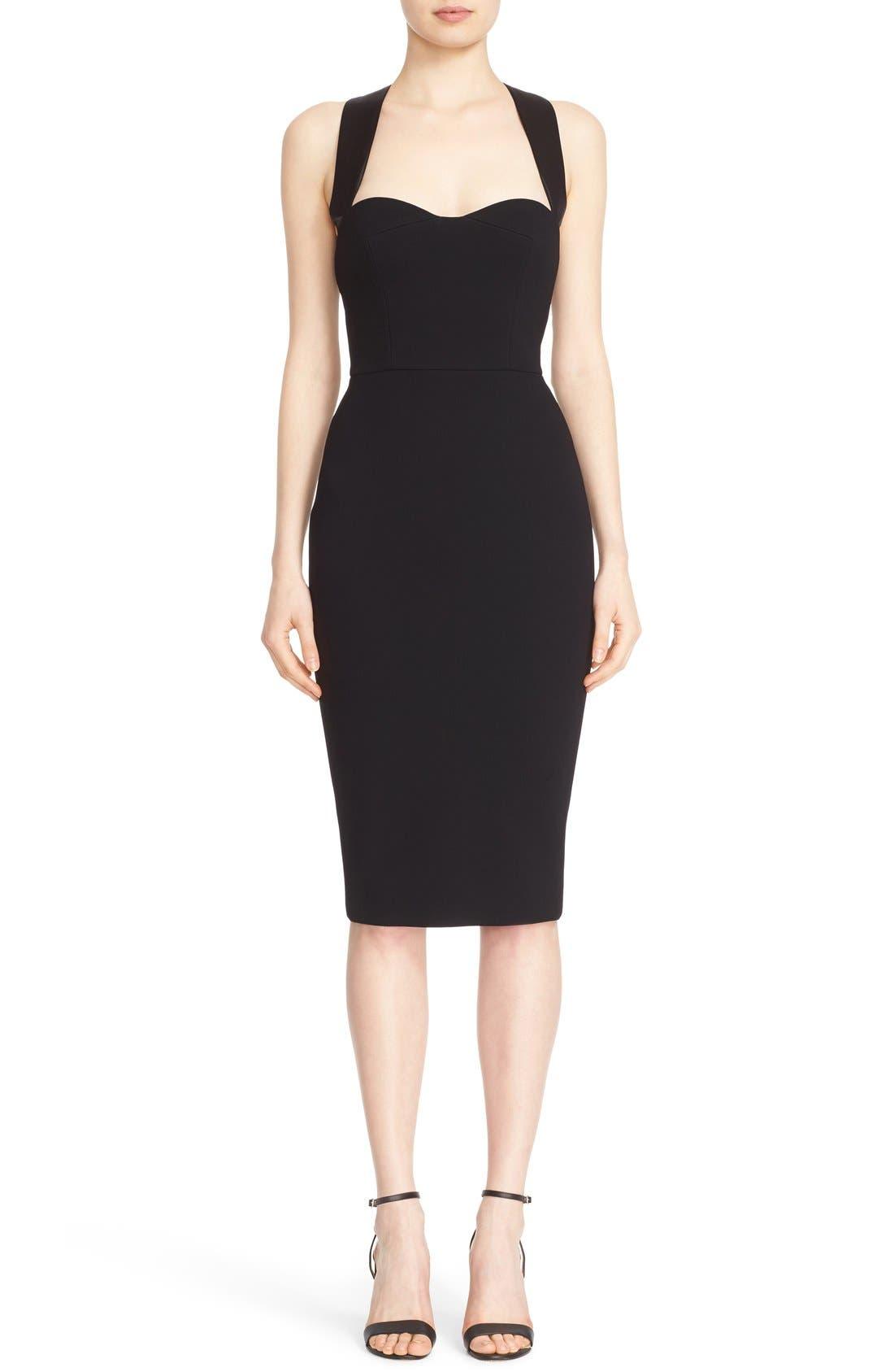 Alternate Image 1 Selected - Victoria Beckham Cross Back Matte Crepe Dress