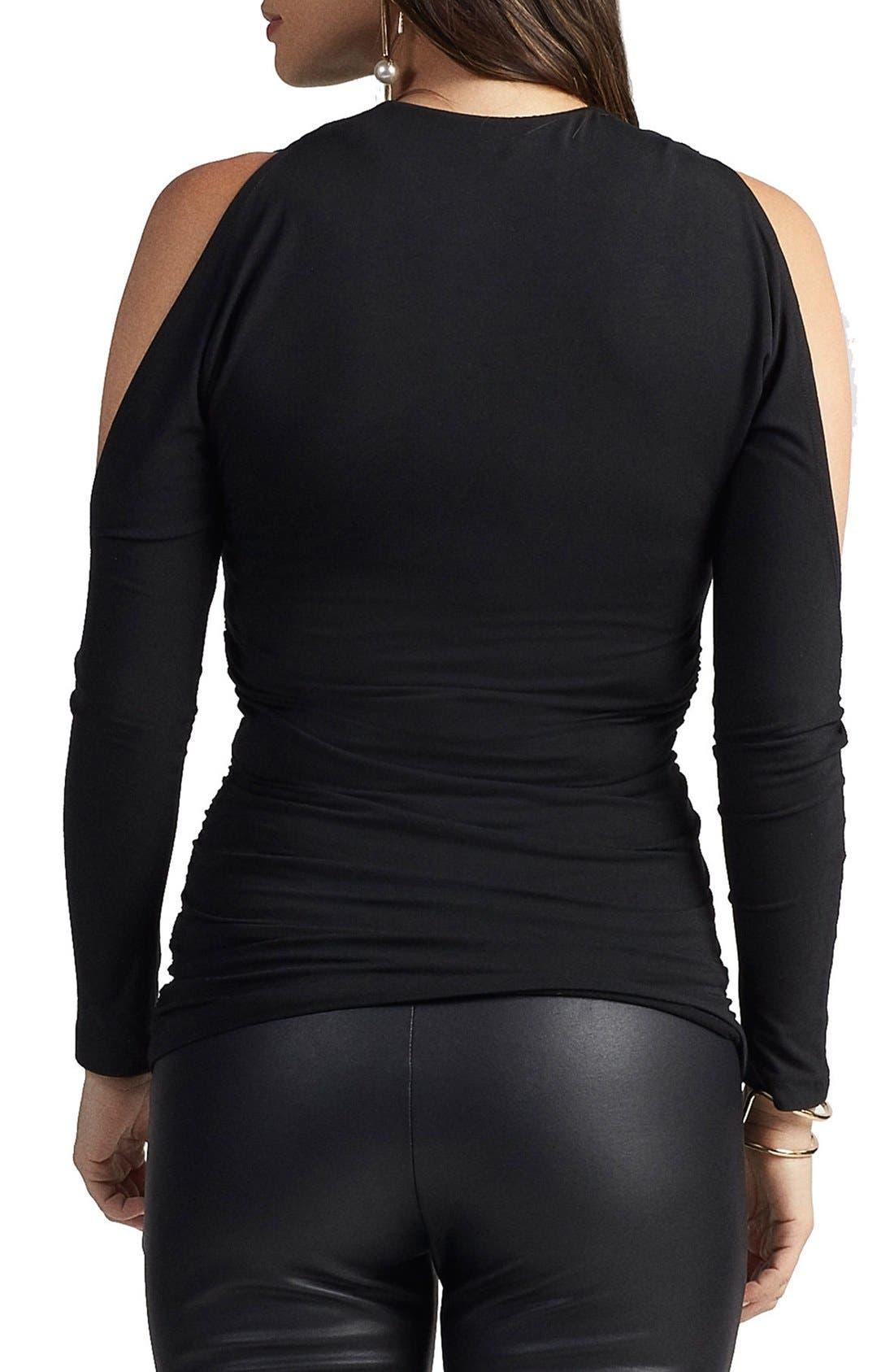 Giza Cold Shoulder Maternity Top,                             Alternate thumbnail 2, color,                             Black
