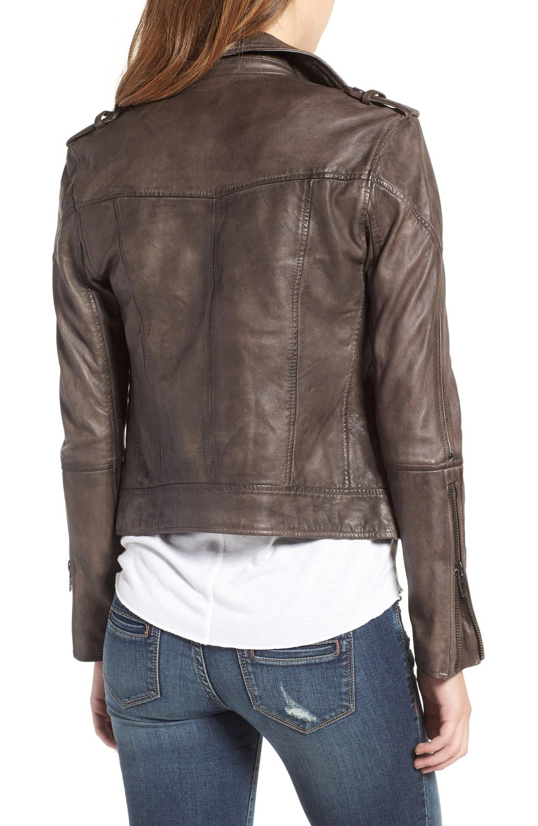 Alternate Image 2  - BLANKNYC Genuine Leather Moto Jacket