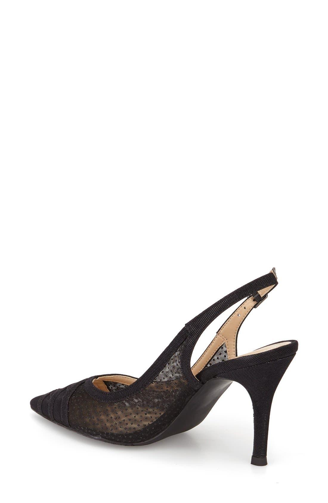 J. Renee Savina Pointed Toe Slingback Pump,                             Alternate thumbnail 2, color,                             Black Glitter