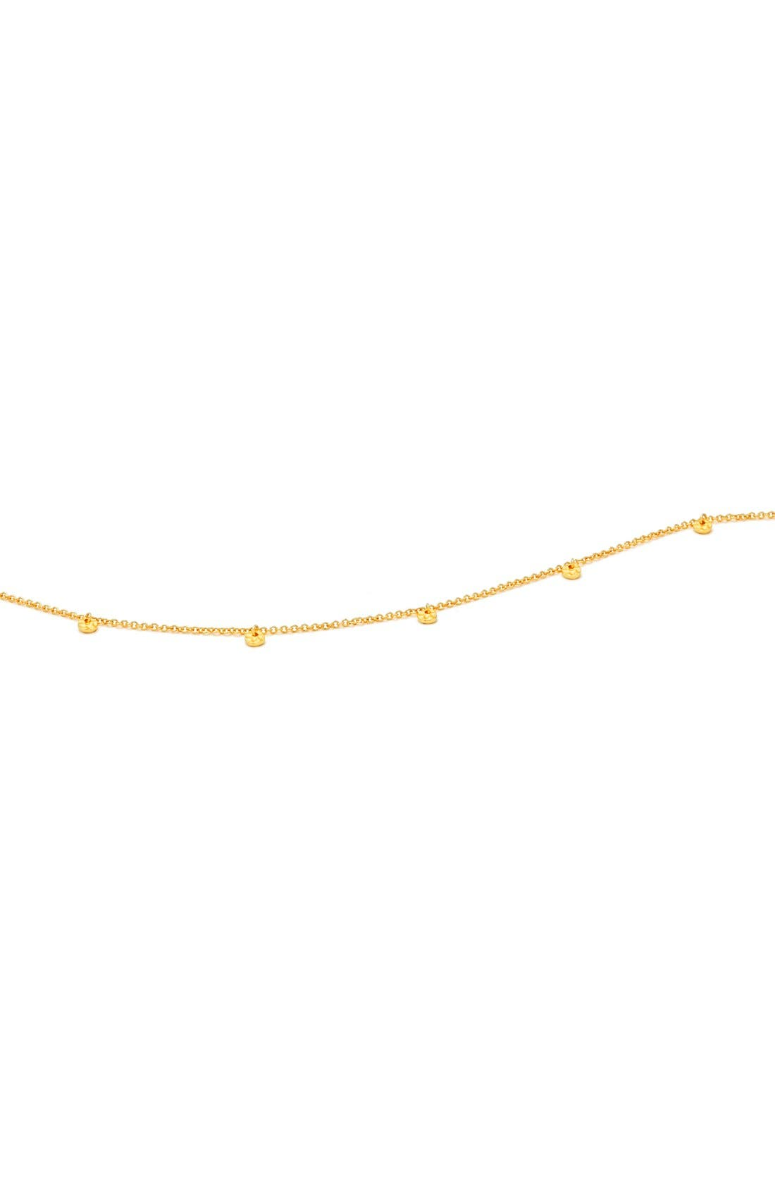 Charm Choker Necklace,                             Alternate thumbnail 2, color,                             Gold