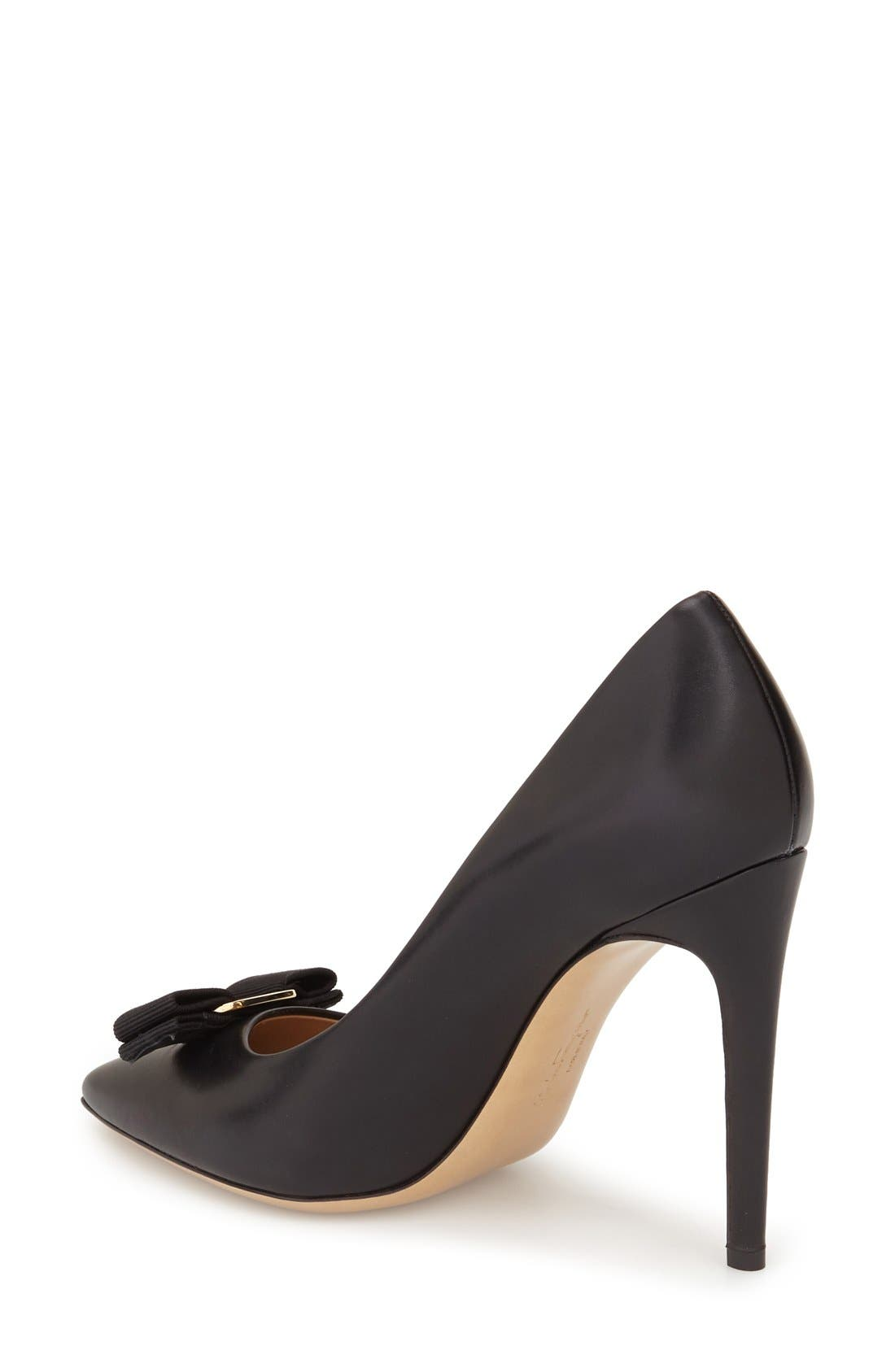 Alternate Image 2  - Salvatore Ferragamo Emy Pointed Toe Bow Pump (Women)