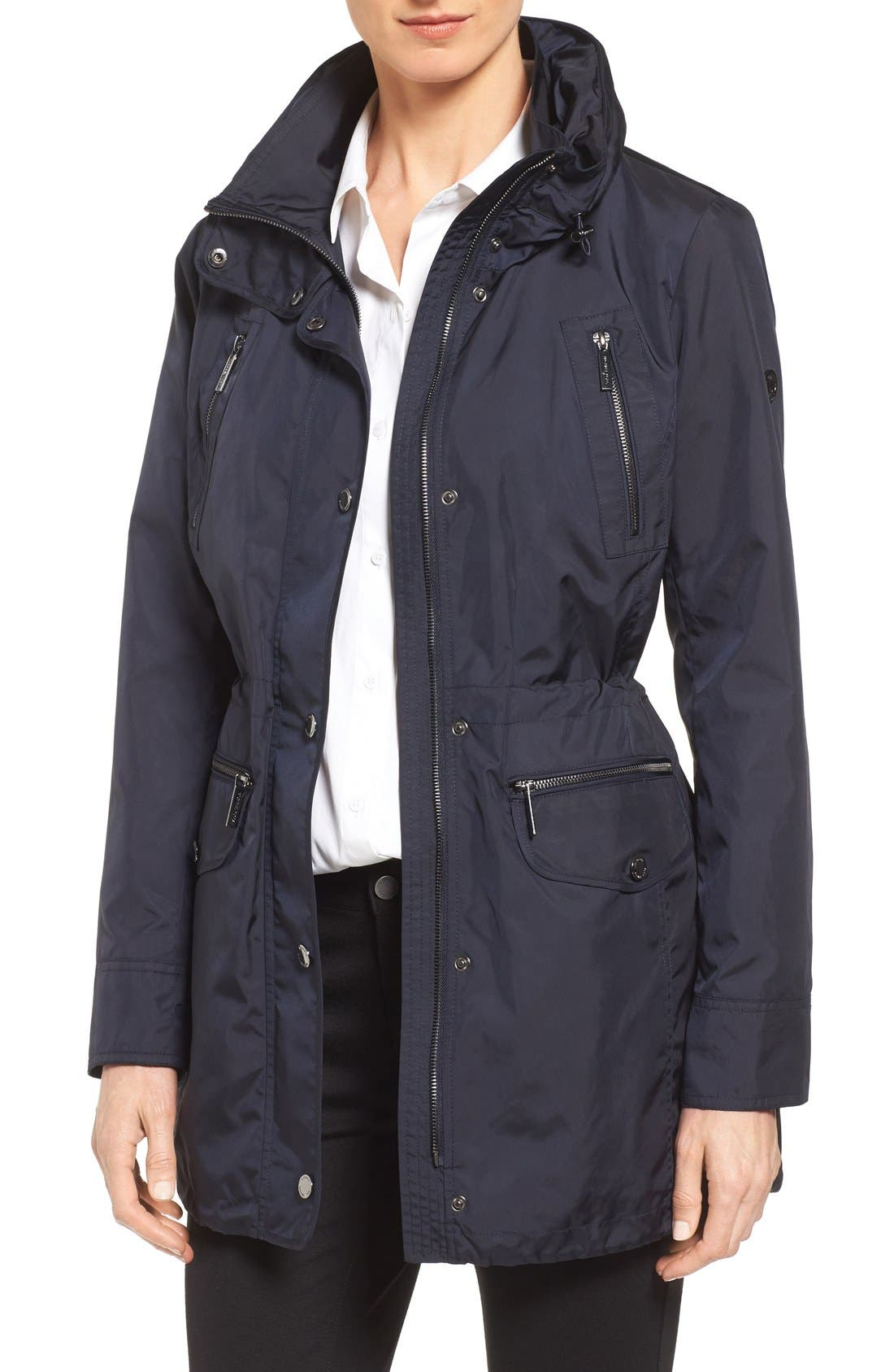 Alternate Image 1 Selected - MICHAEL Michael Kors Hooded Anorak (Regular & Petite)