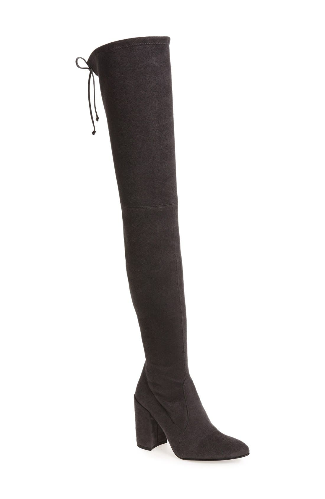 'All Legs' Thigh High Boot,                         Main,                         color, Grey Ultrastretch