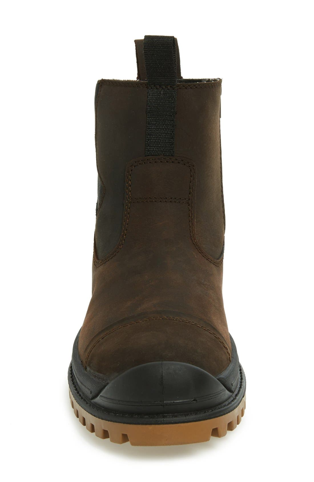 Griffon Snow Boot,                             Alternate thumbnail 3, color,                             Dark Brown Leather