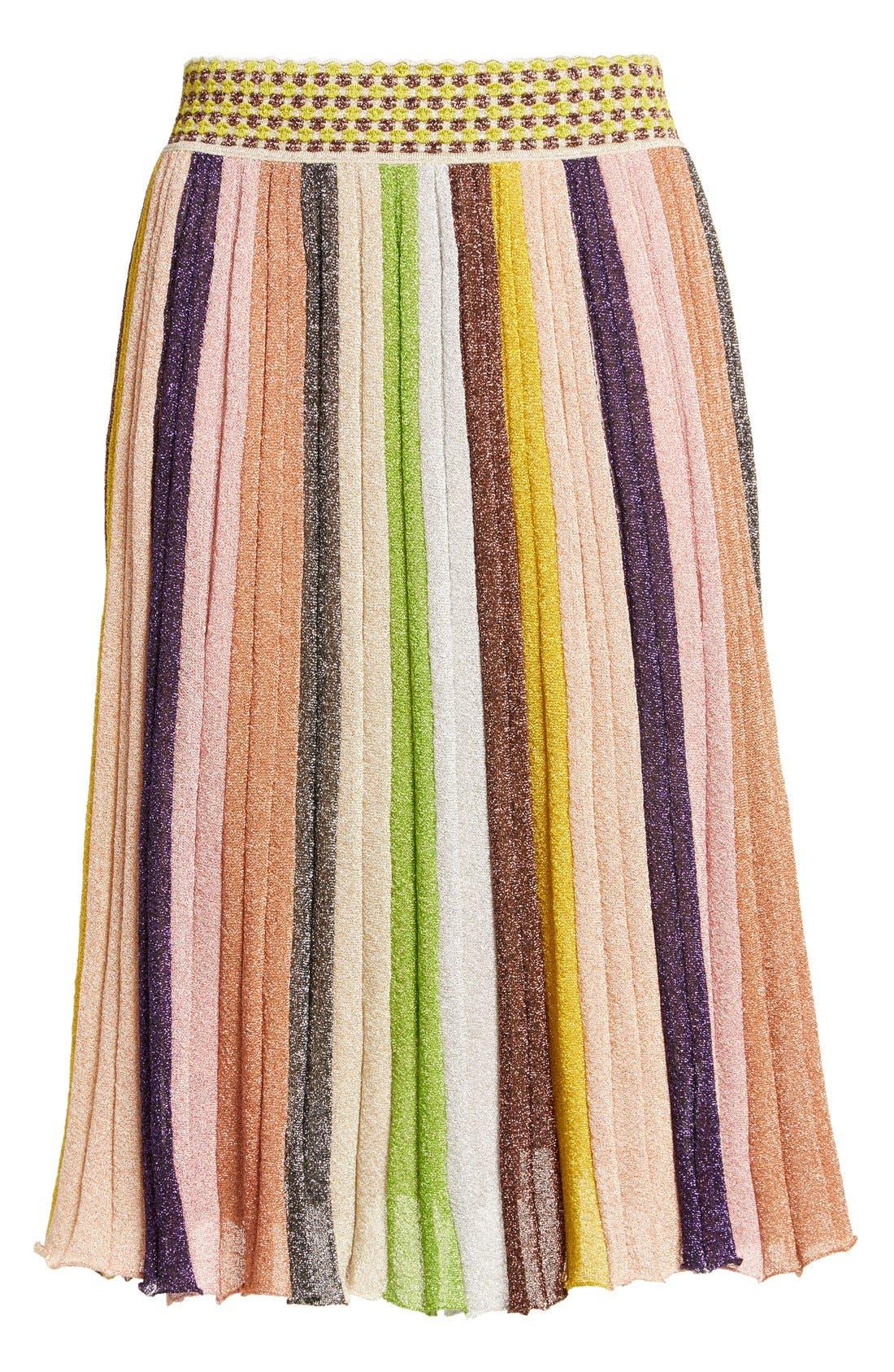 Alternate Image 4  - Missioni Metallic Stripe Skirt