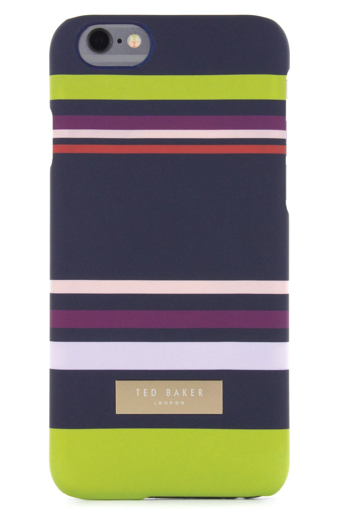 Stairway Stripe iPhone 6/6s/7/8 Case,                         Main,                         color, Navy