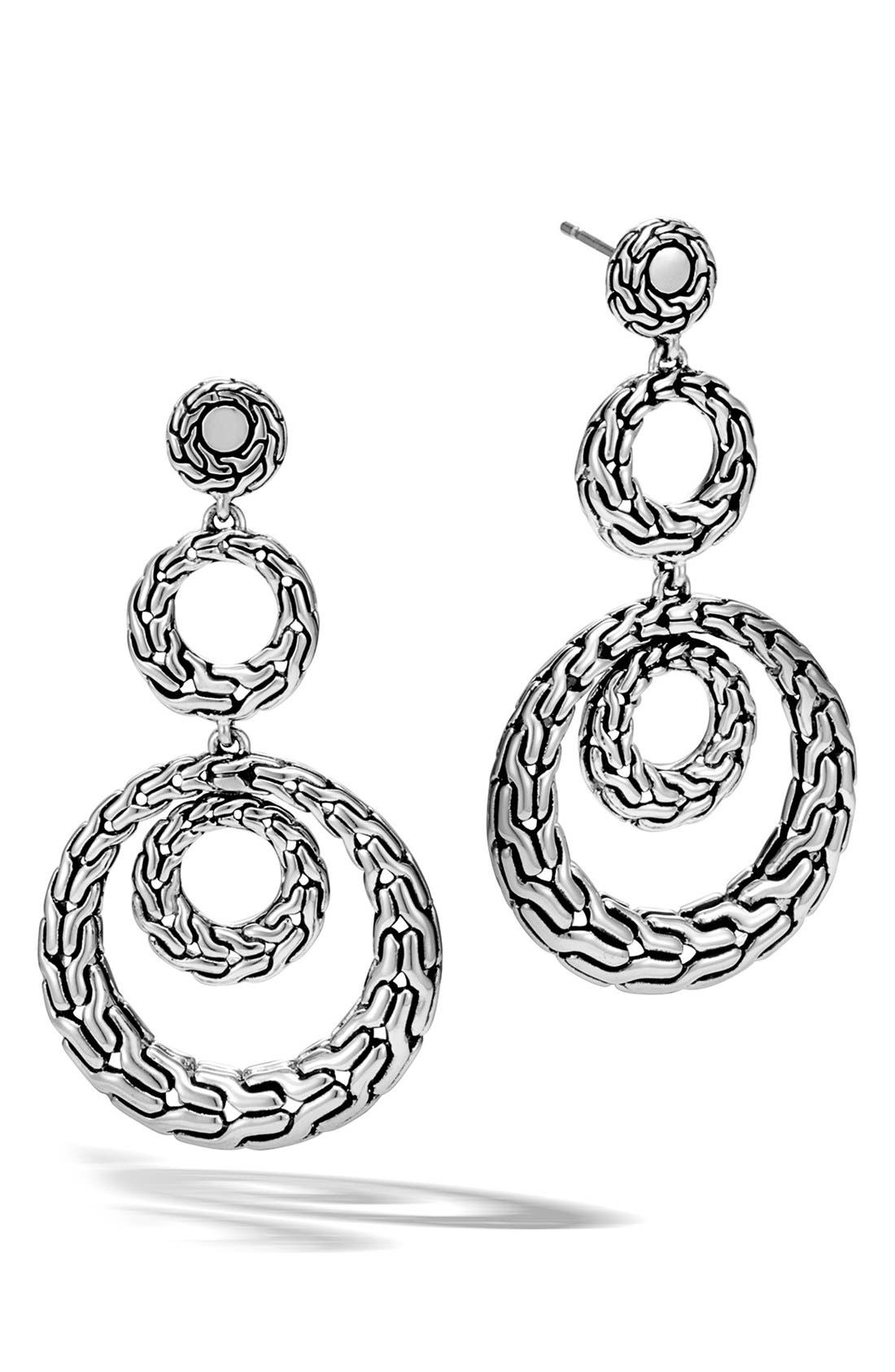 Classic Chain Drop Earrings,                         Main,                         color, Silver