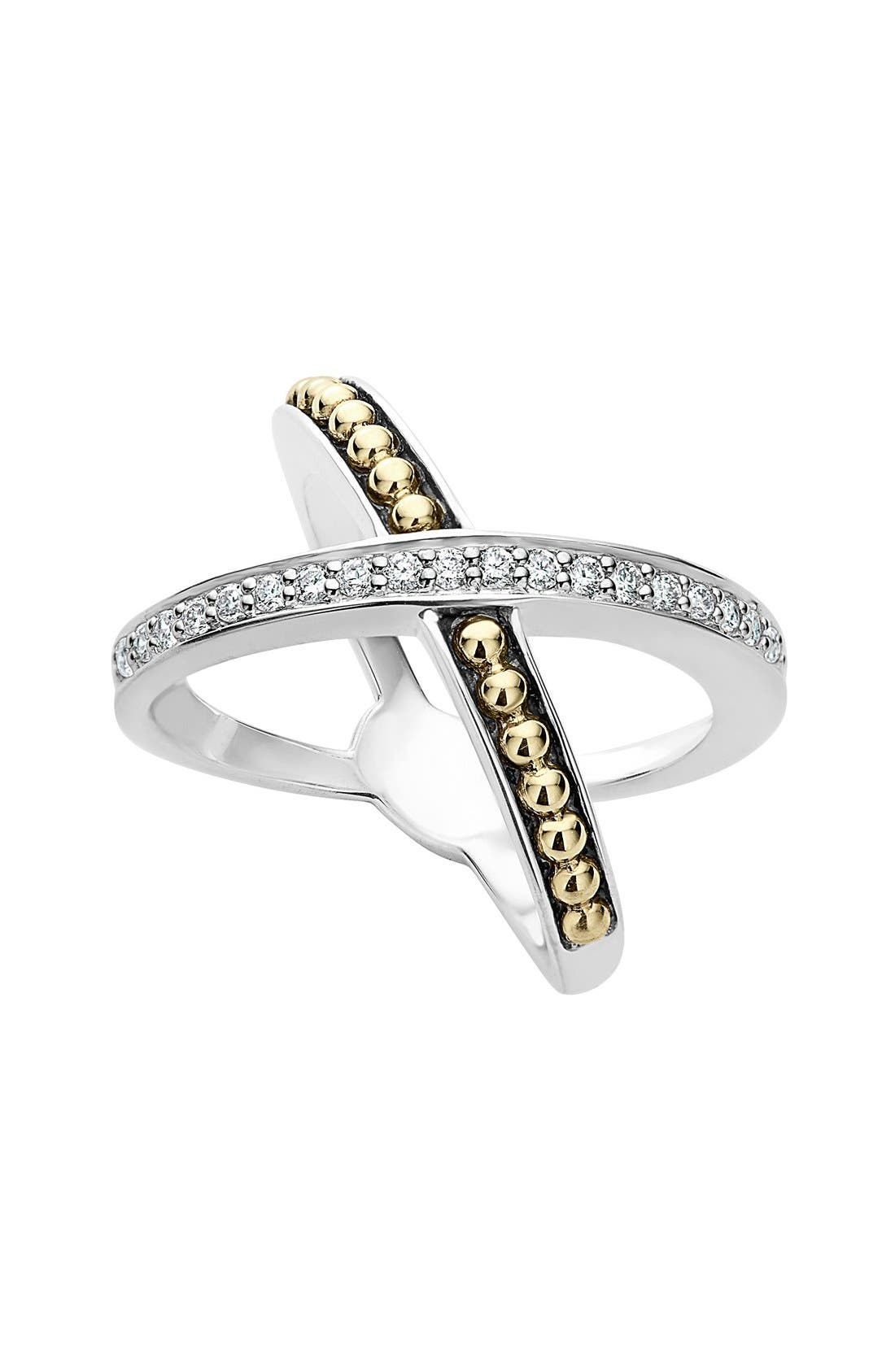 LAGOS KSL Diamond Pavé Crossover Ring