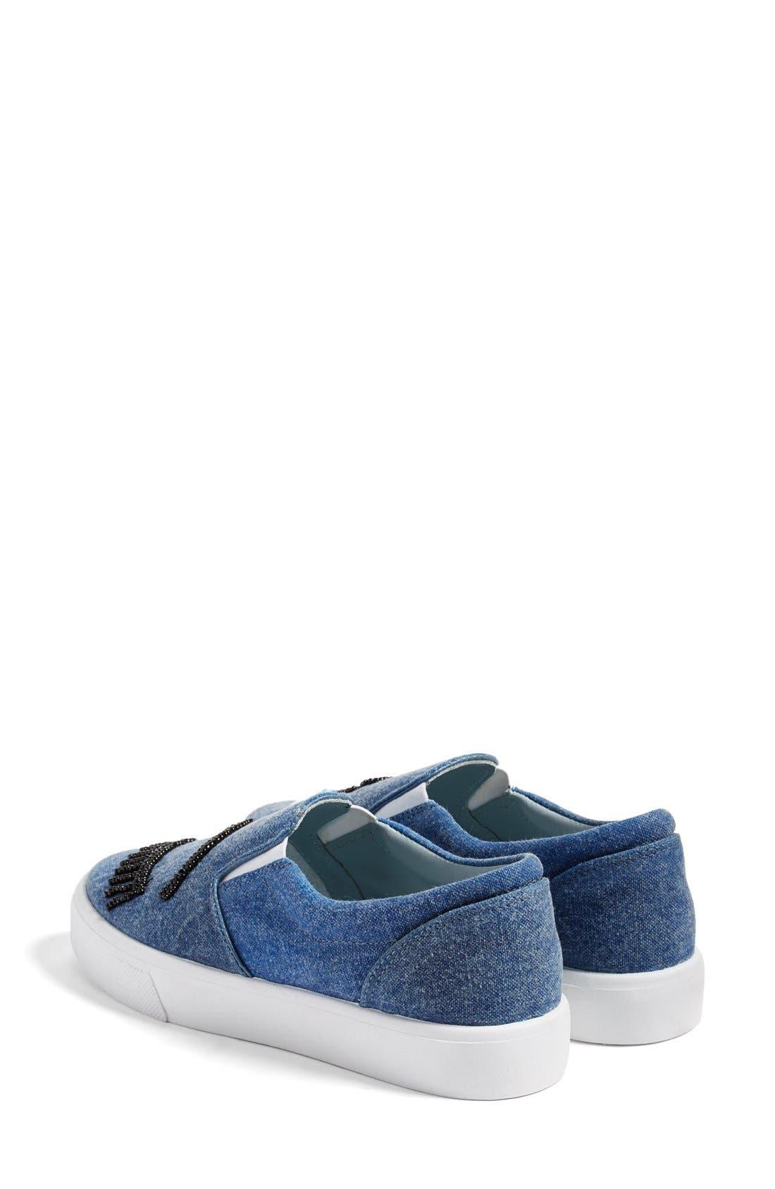 Alternate Image 2  - Chiara Ferragni Flirting Beaded Slip-On Sneaker (Women)