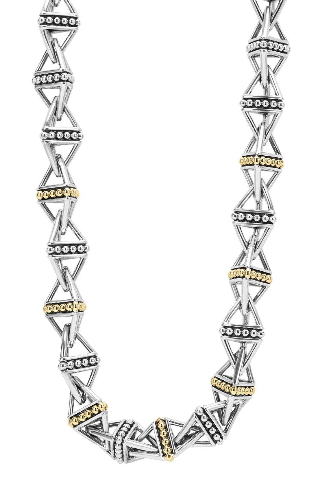 Main Image - LAGOS KSL Pyramid Link Chain Necklace