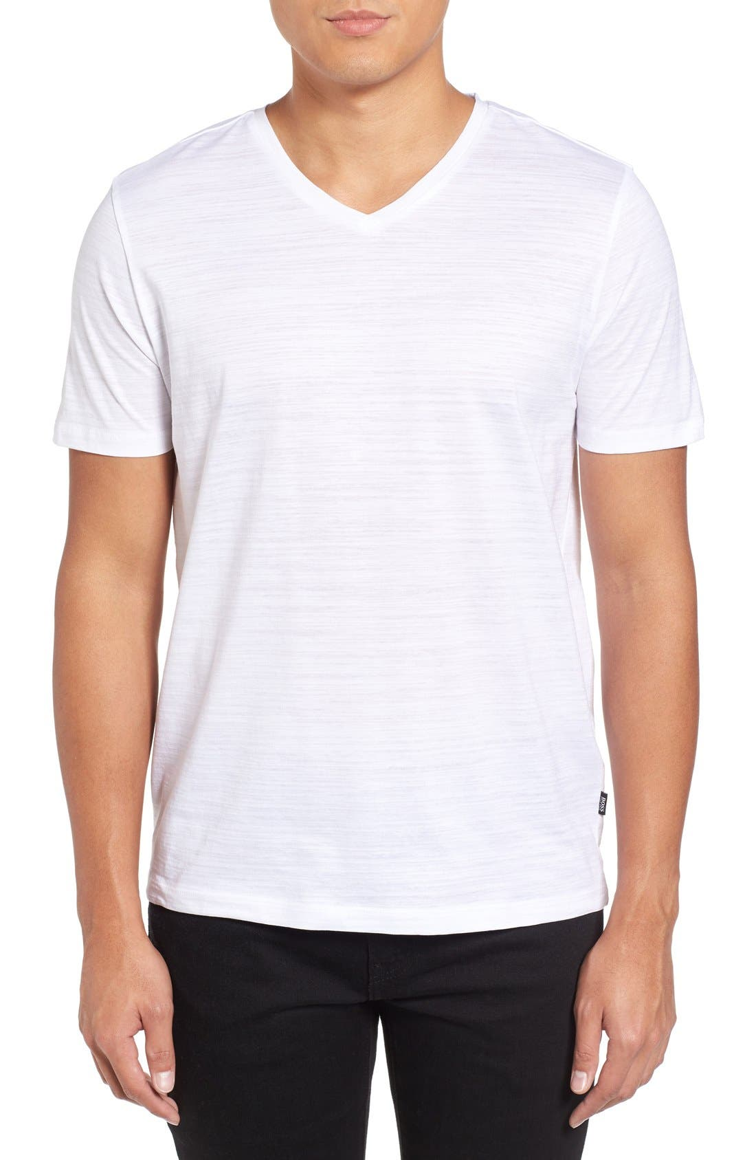 Tilson 50 V-Neck T-Shirt,                             Main thumbnail 1, color,                             White
