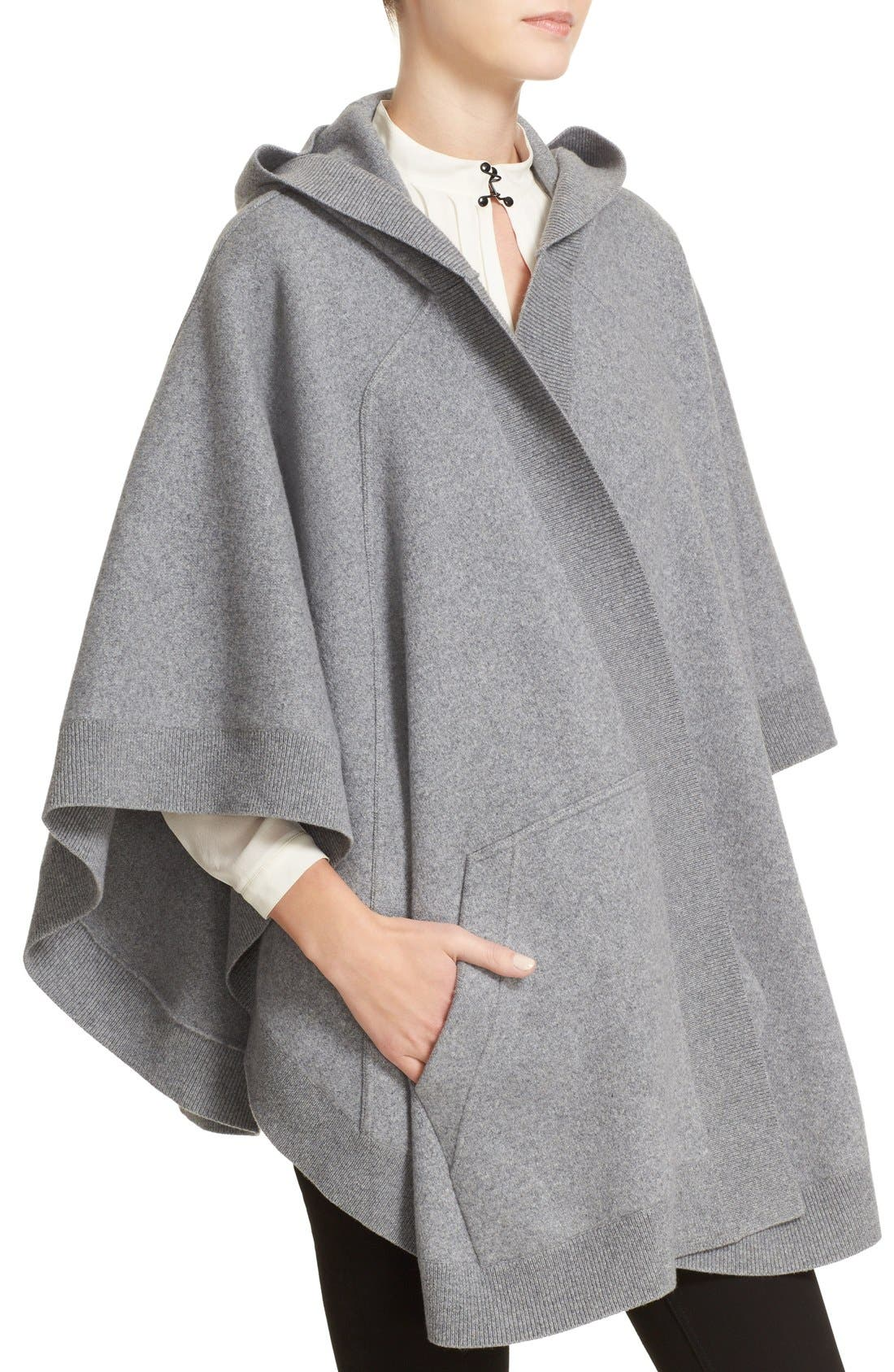 Alternate Image 4  - Burberry Carla Hooded Knit Poncho