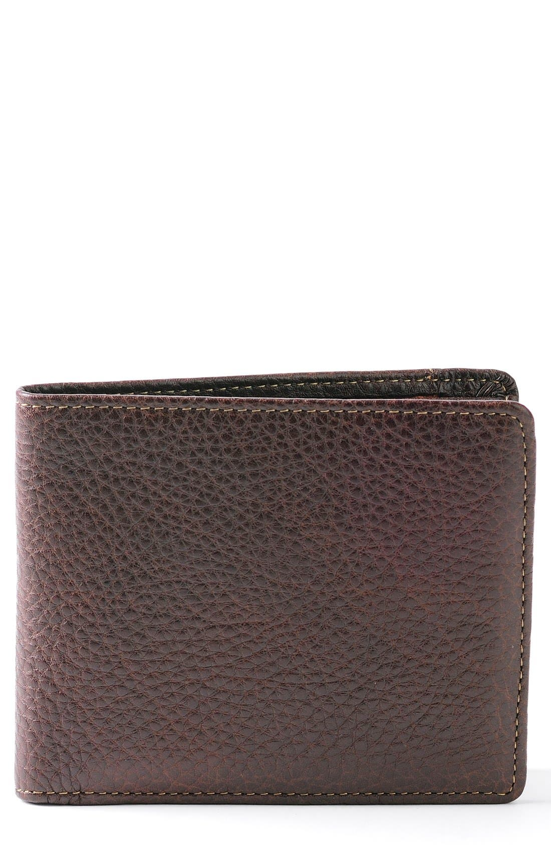 'Tyler' RFID Wallet,                             Main thumbnail 1, color,                             Coffee
