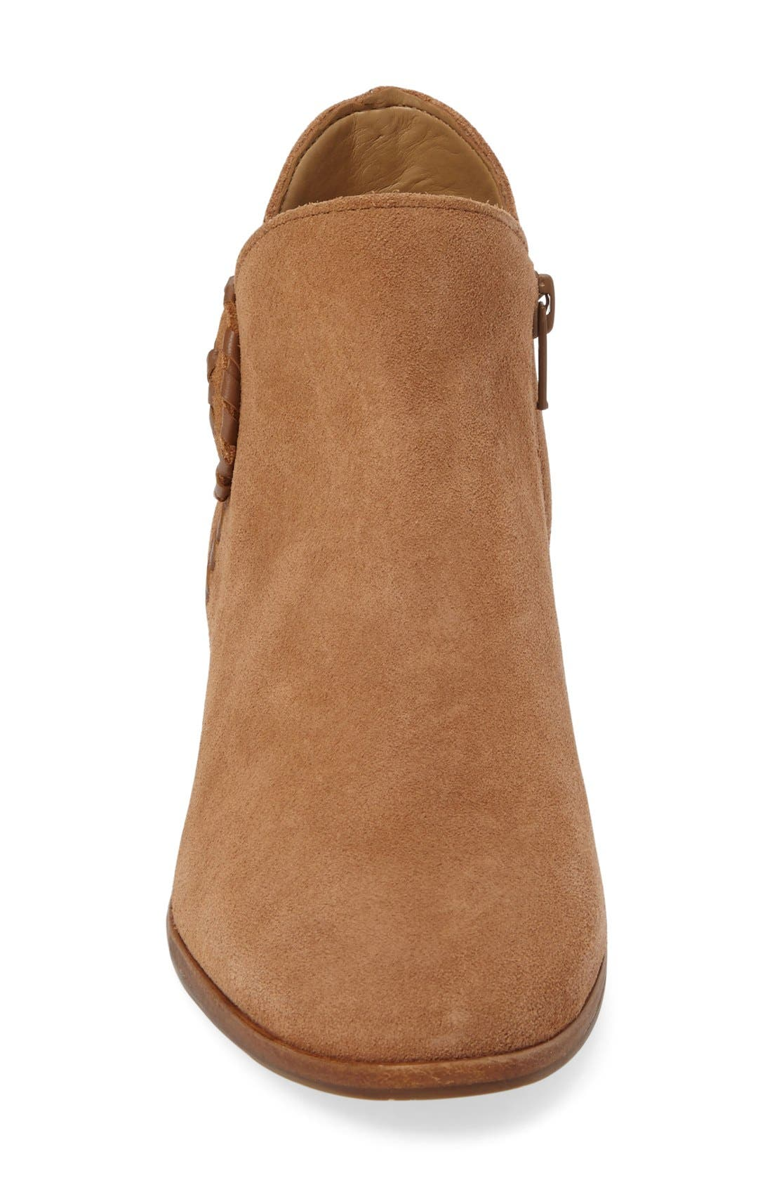 Peyton Bootie,                             Alternate thumbnail 3, color,                             Oak Suede