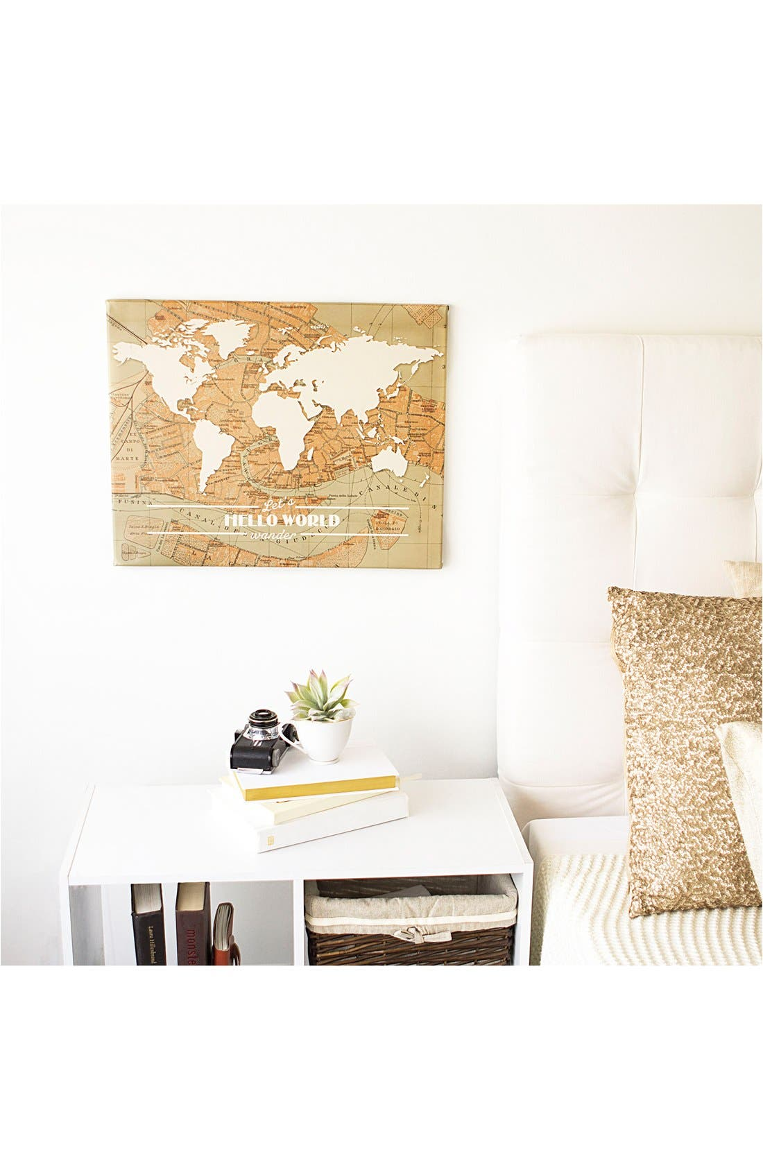 Travel the World Wall Art,                             Alternate thumbnail 2, color,                             Brown