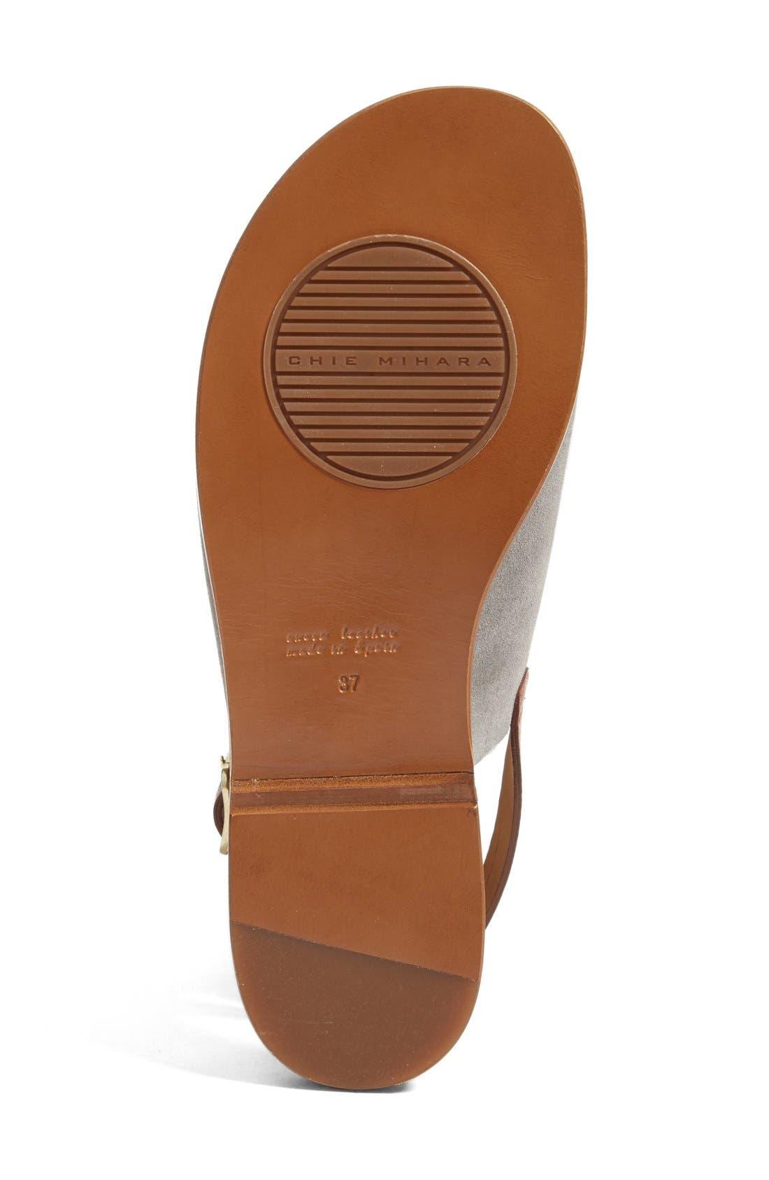 Querete Slingback Sandal,                             Alternate thumbnail 4, color,                             Stone/ Brown