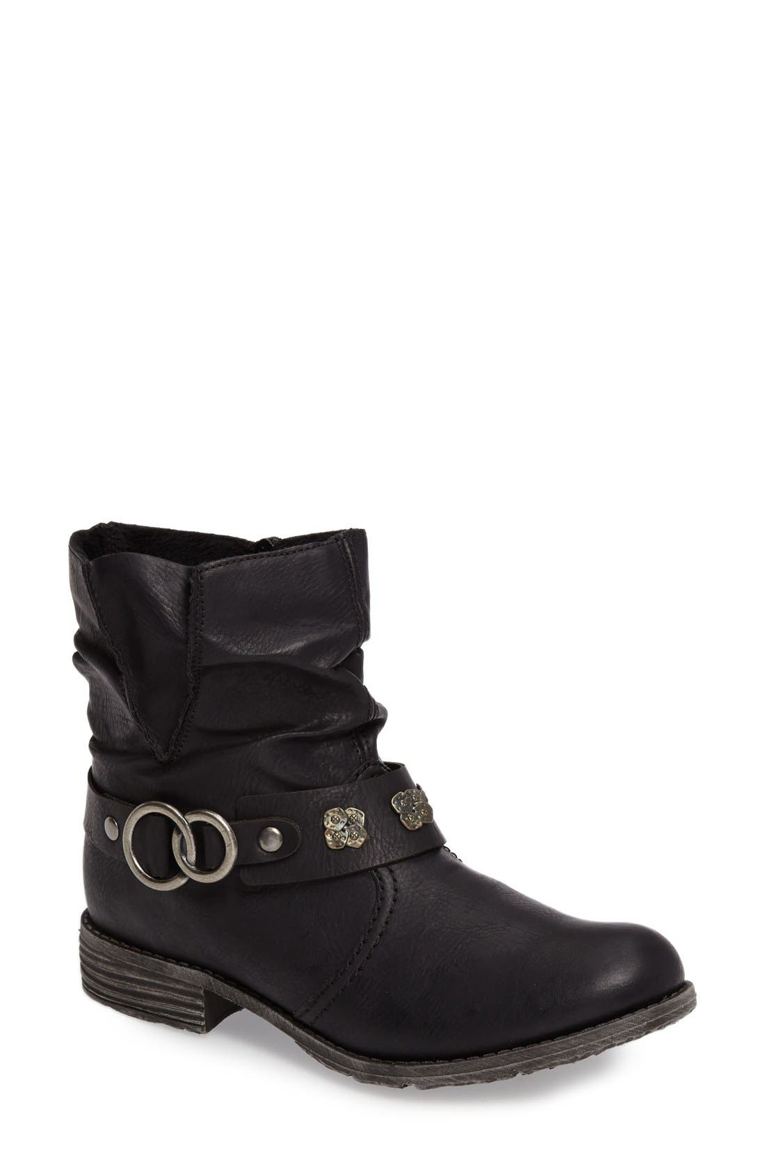 Rieker Antistress 'Peggy' Boot,                         Main,                         color, Black