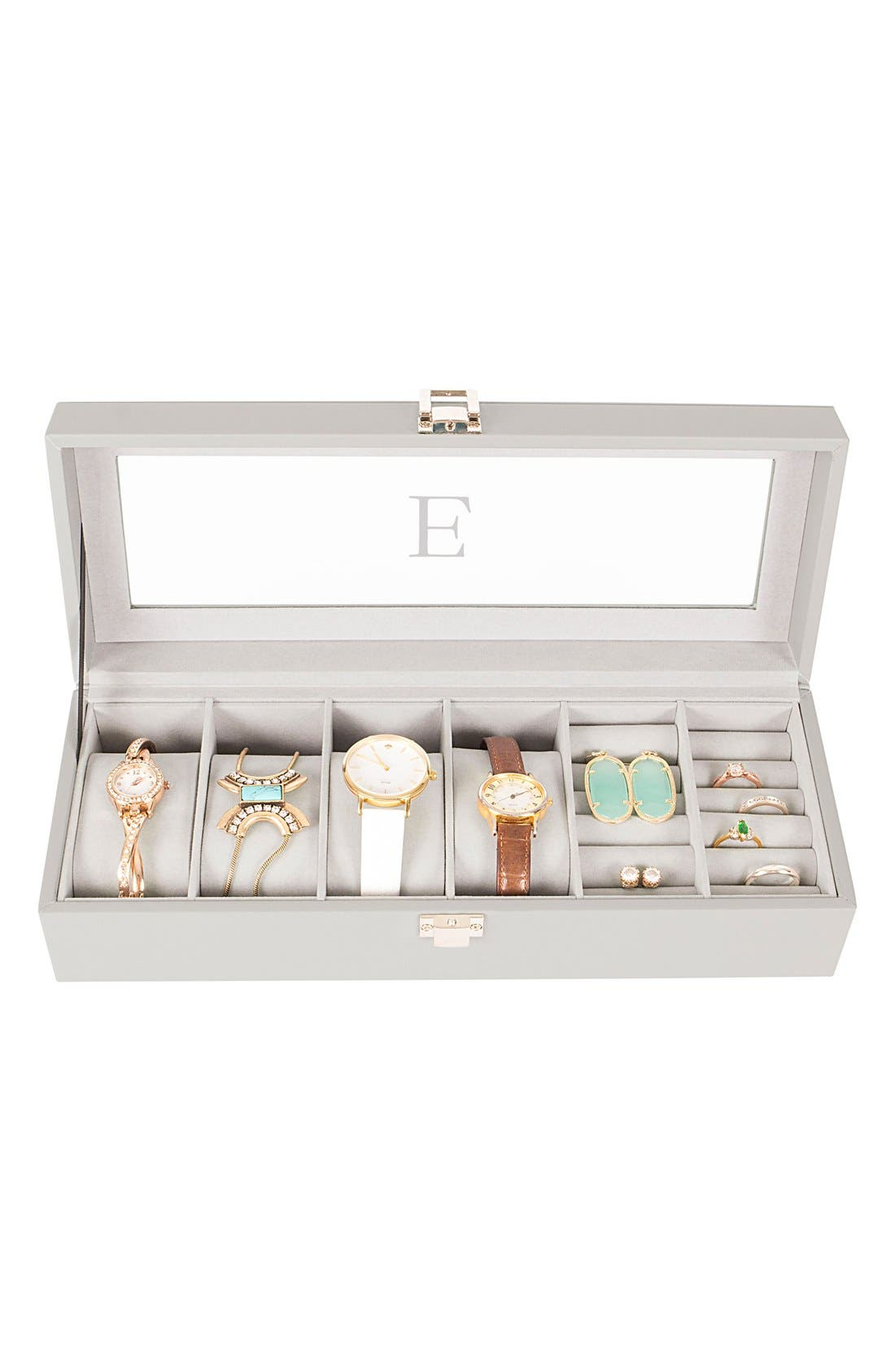 Monogram Watch & Jewelry Case,                             Alternate thumbnail 5, color,
