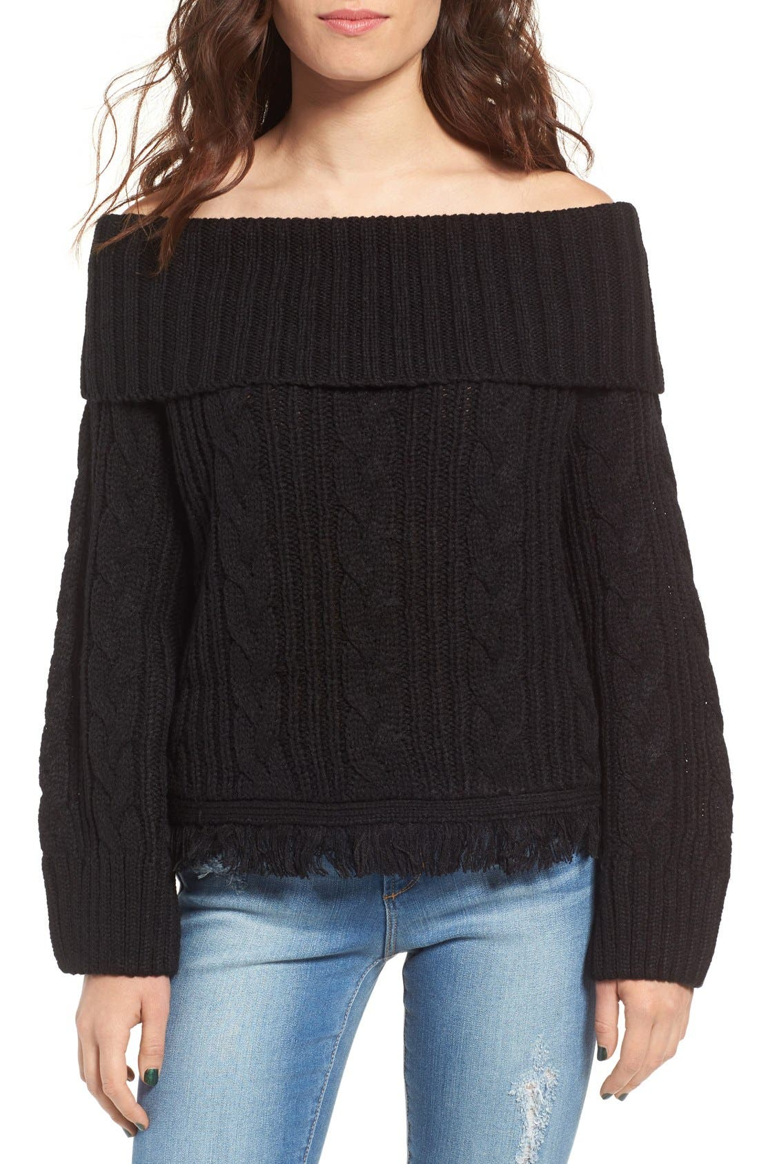 Alternate Image 1 Selected - MOON RIVER Off the Shoulder Sweater