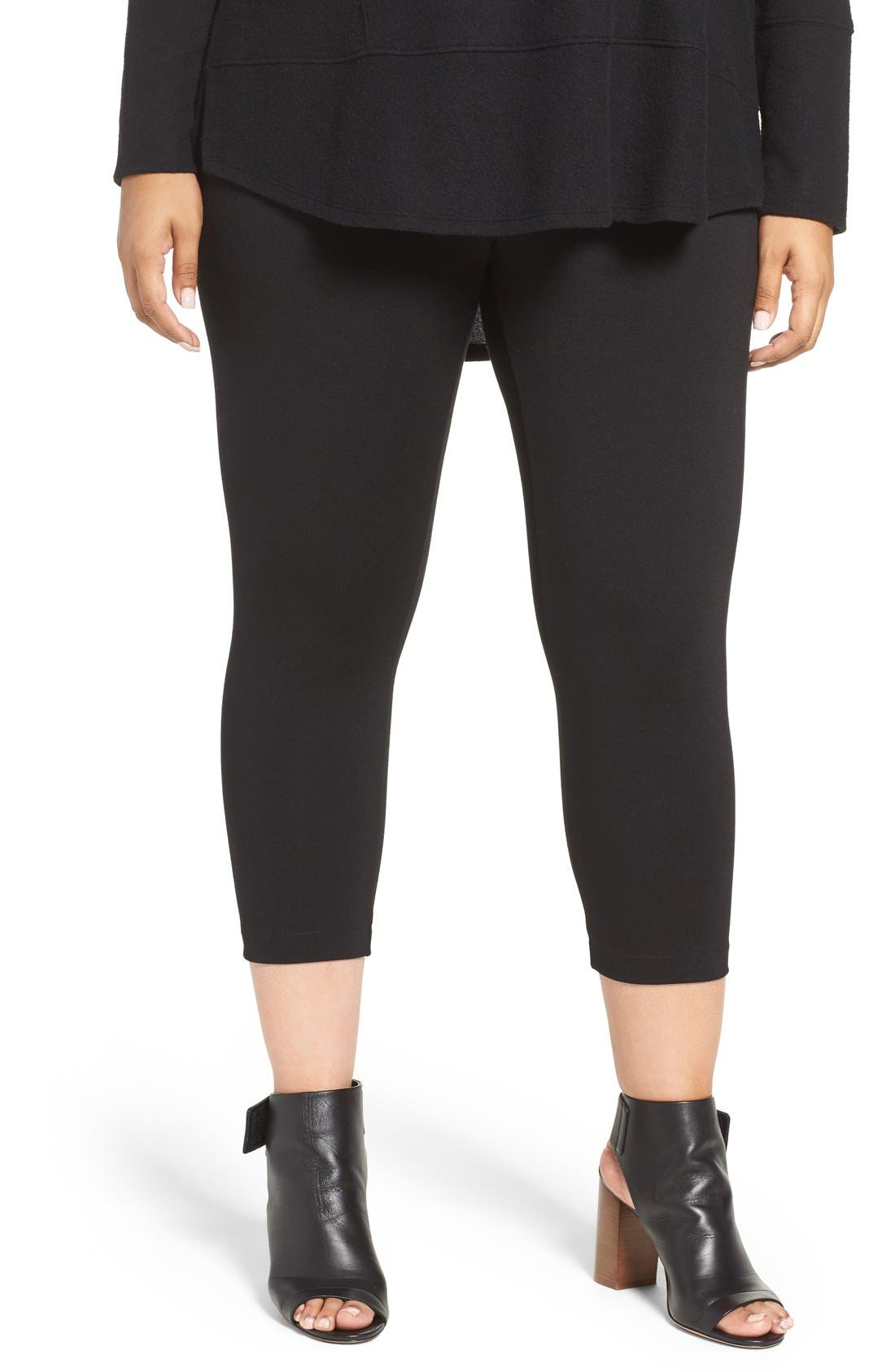 Main Image - Sejour Crop Leggings (Plus Size)