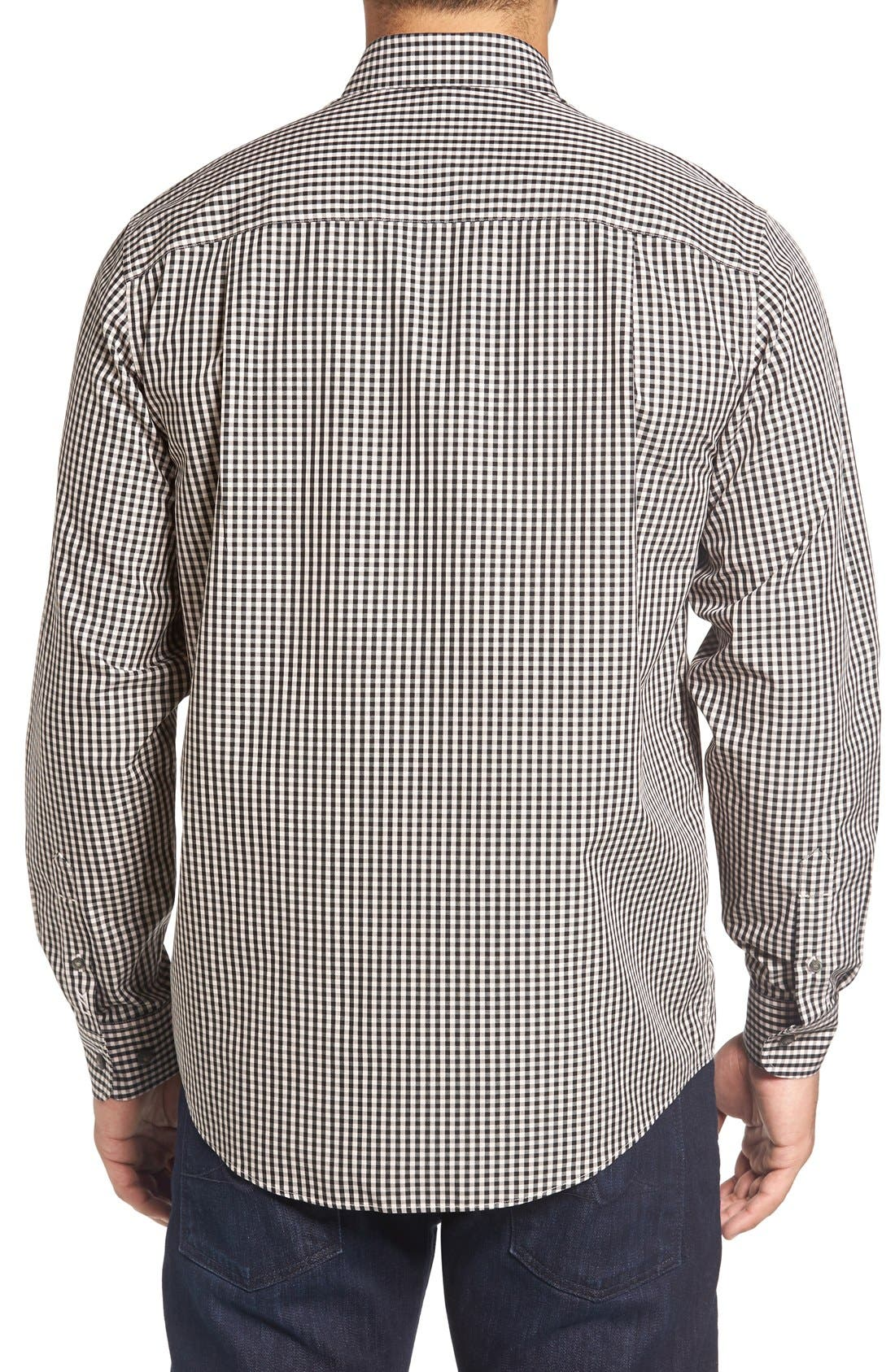 'Willard' Check Sport Shirt,                             Alternate thumbnail 3, color,                             Quaint