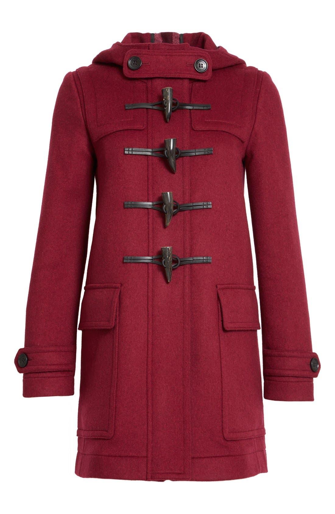 Alternate Image 4  - Burberry 'Baysbrooke' Wool Duffle Coat