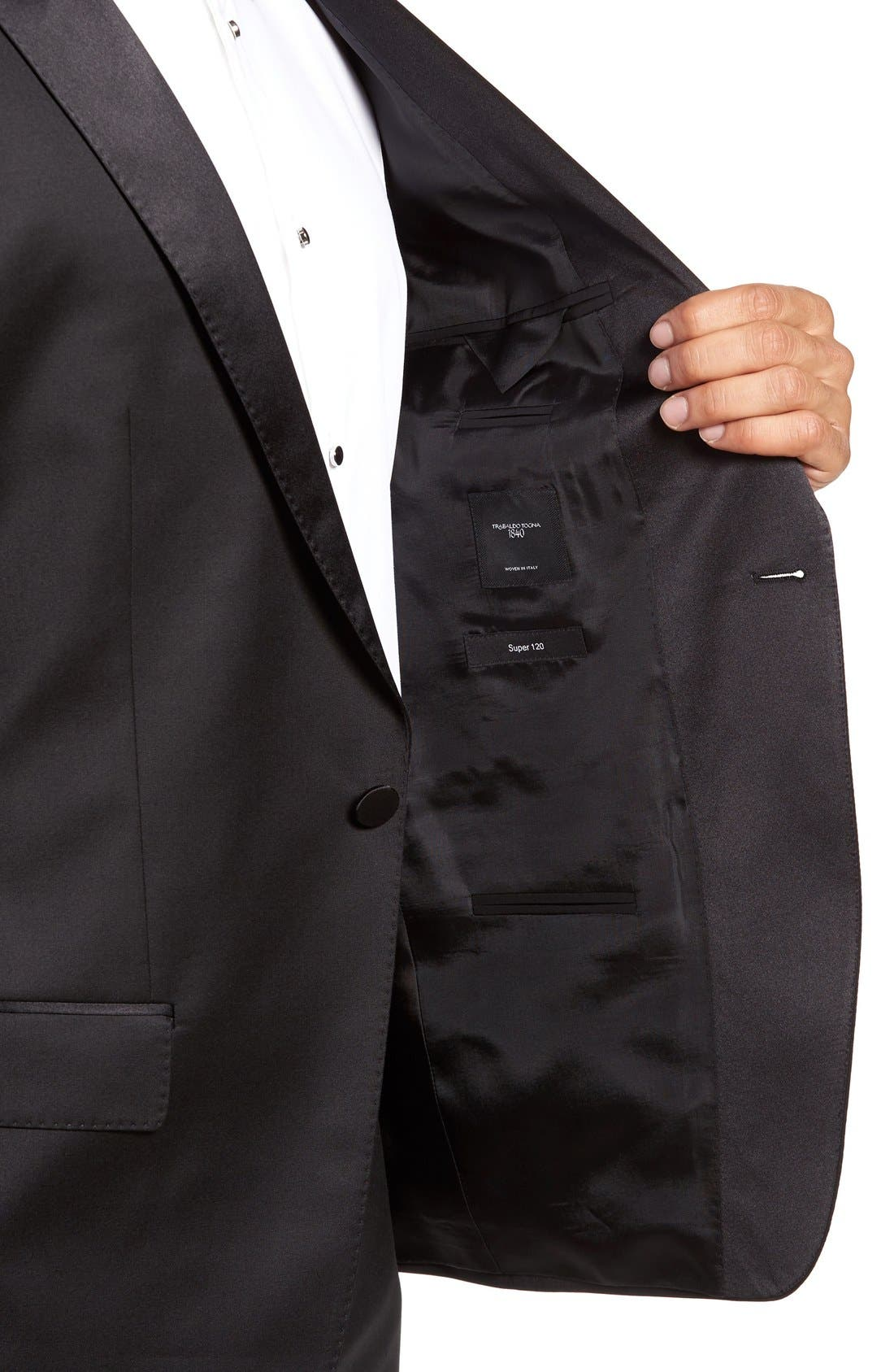 Alternate Image 5  - BOSS Trim Fit Wool Tuxedo