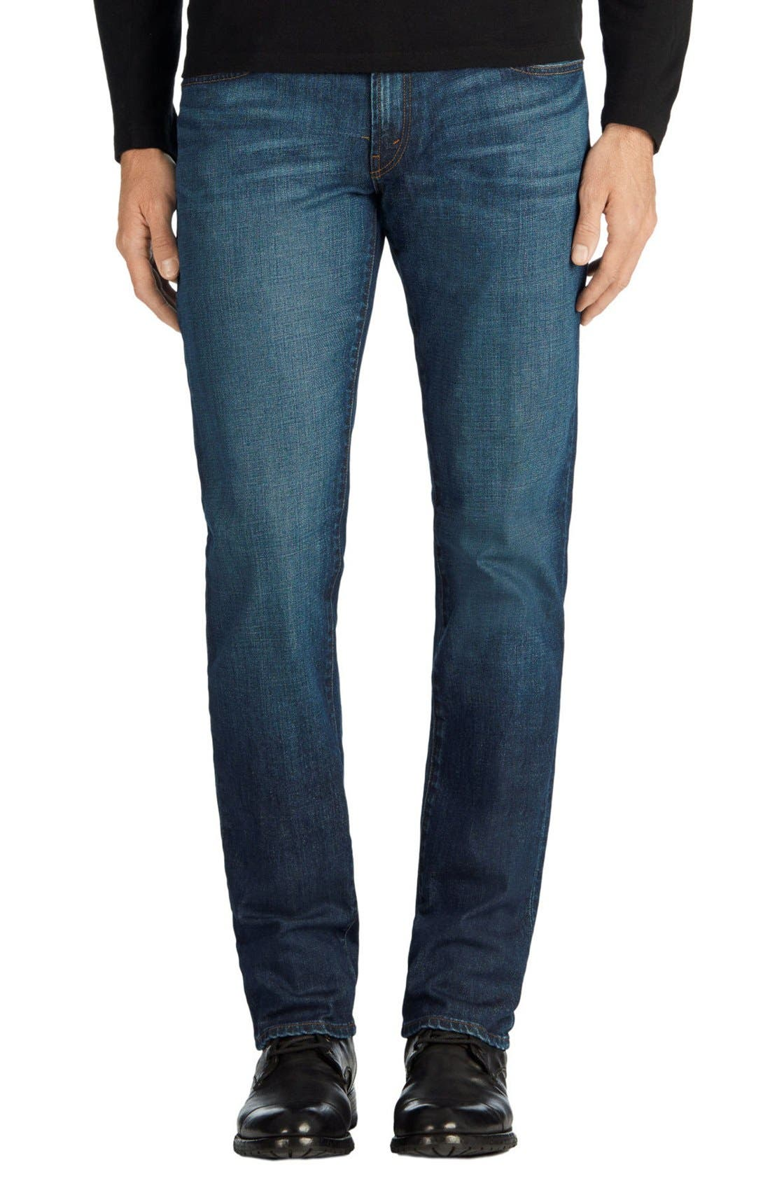 Tyler Slim Fit Jeans,                             Main thumbnail 1, color,                             Diran Blue