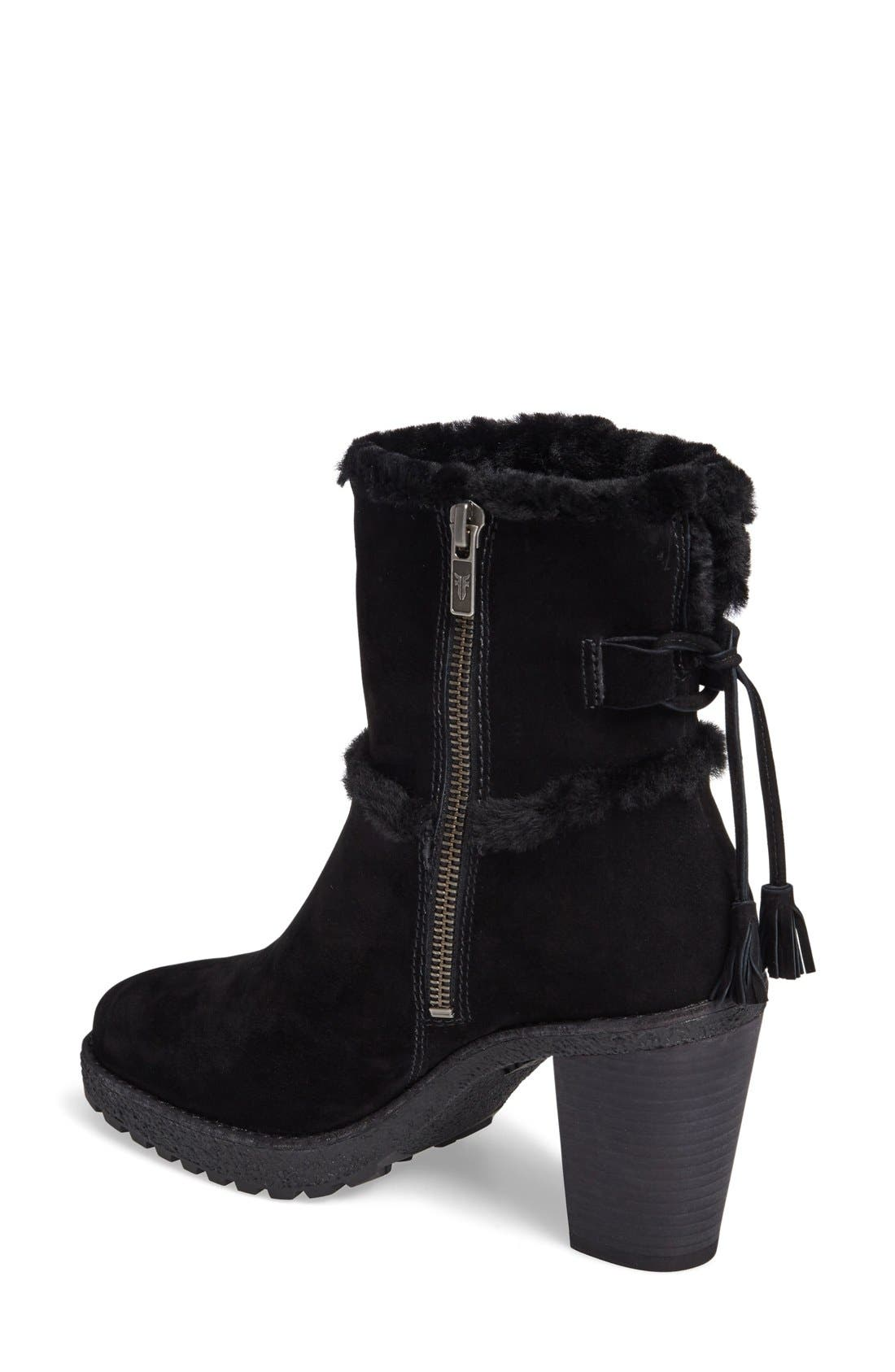 Jen Genuine Shearling Lined Water Resistant Boot,                             Alternate thumbnail 2, color,                             Black