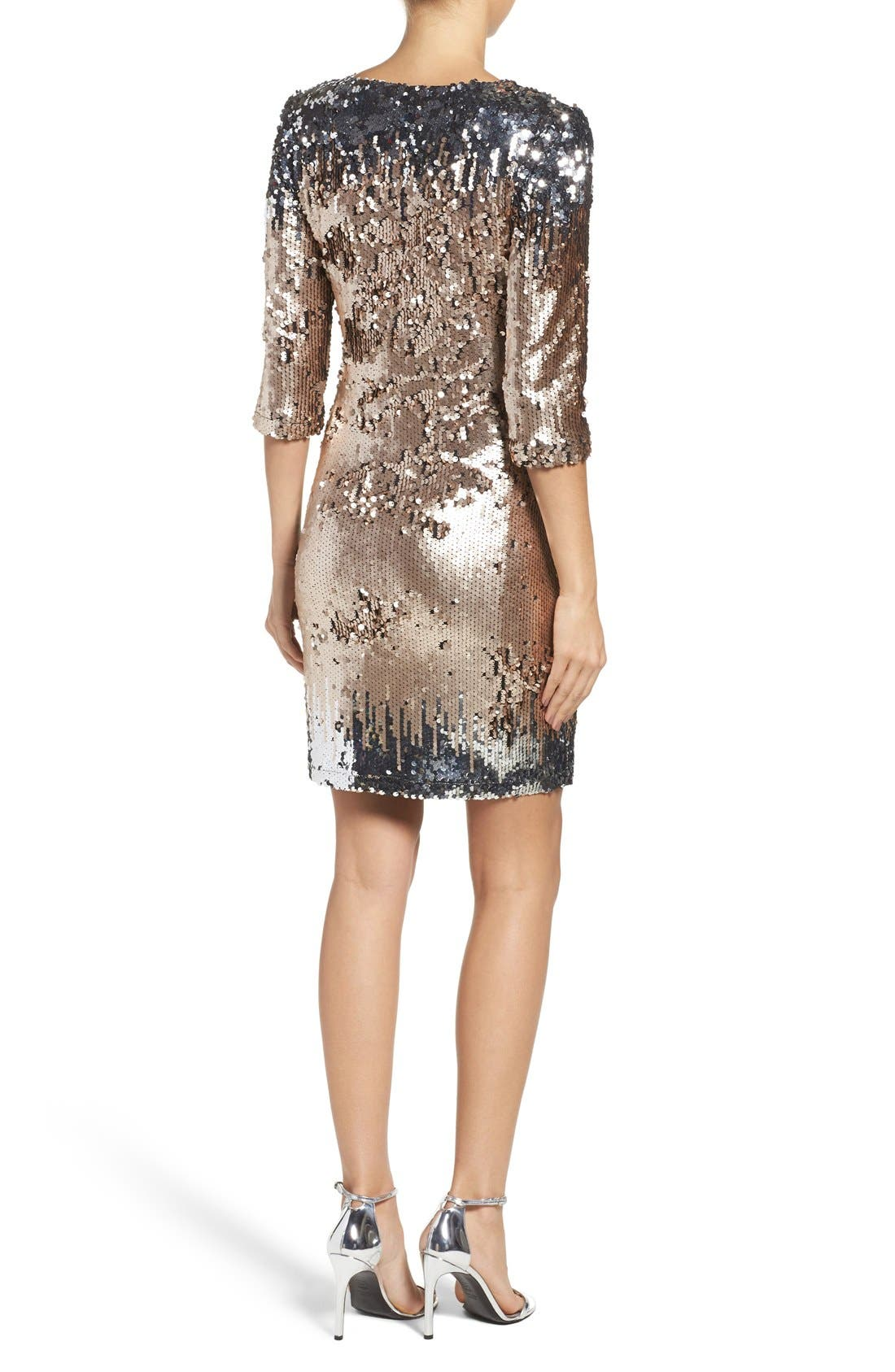 Alternate Image 2  - BB Dakota Elise Sequin Body-Con Dress