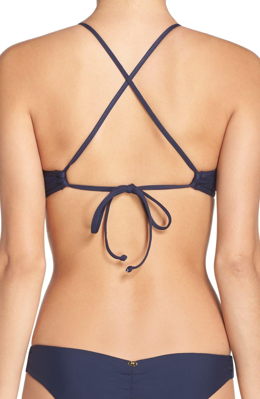 Sequin Bikini Top,                             Alternate thumbnail 2, color,                             Atlantis