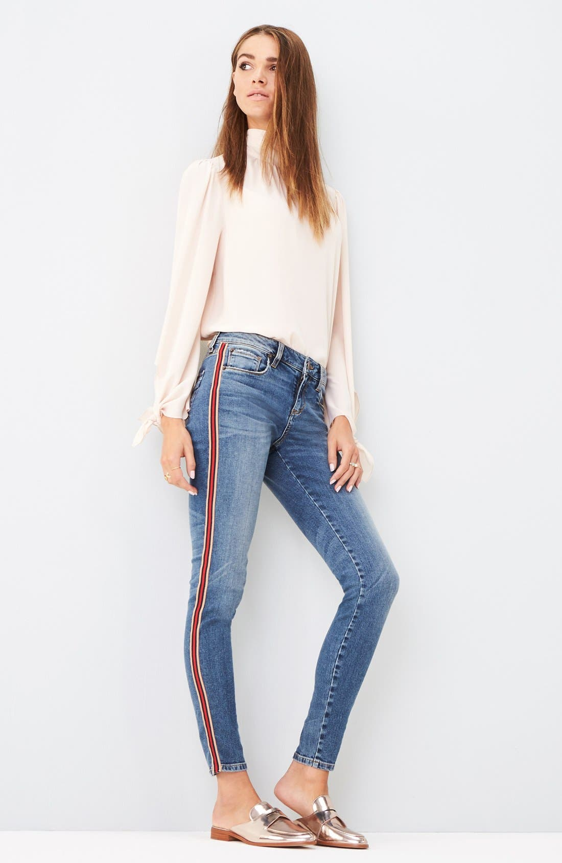 Alternate Image 2  - STS Blue Piper Athletic Stripe Skinny Jeans (West Oakville)