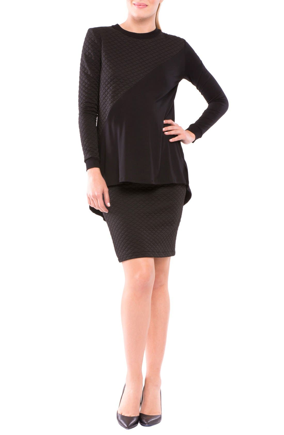 Olian Adreina Quilted Maternity Top