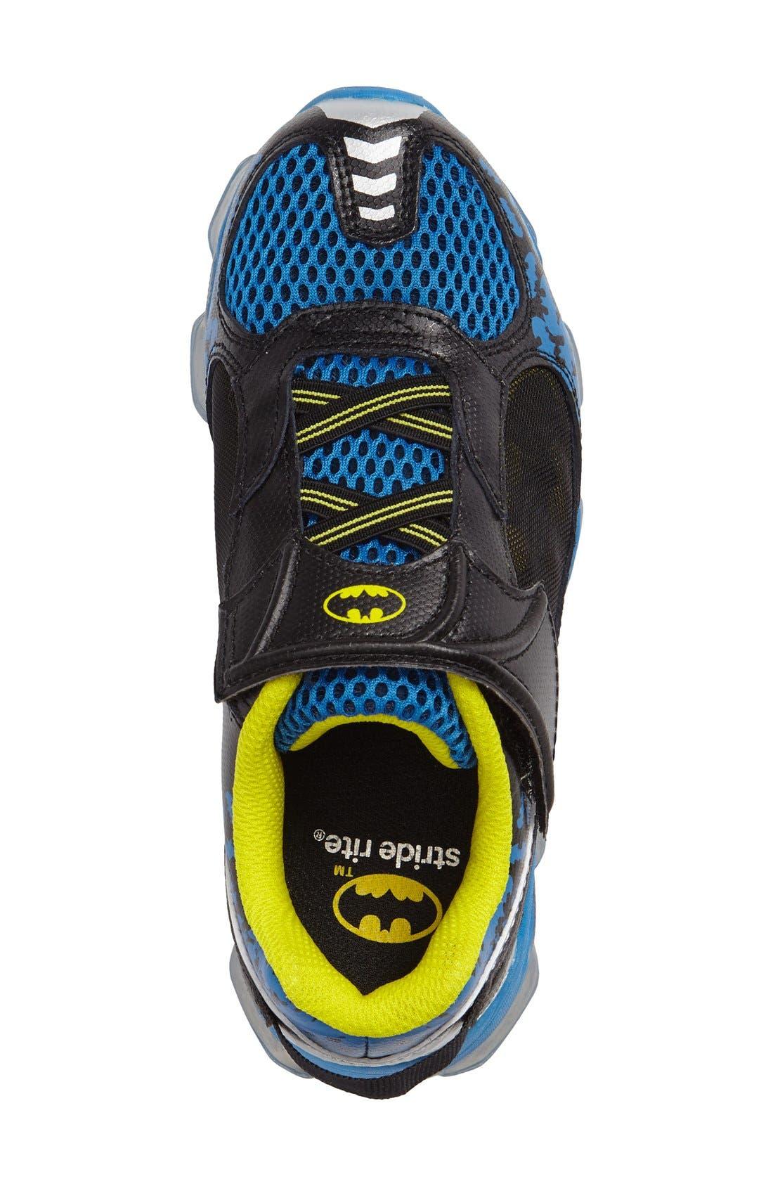 Batman<sup>™</sup> Light-Up Sneaker,                             Alternate thumbnail 3, color,                             Navy/ Yellow