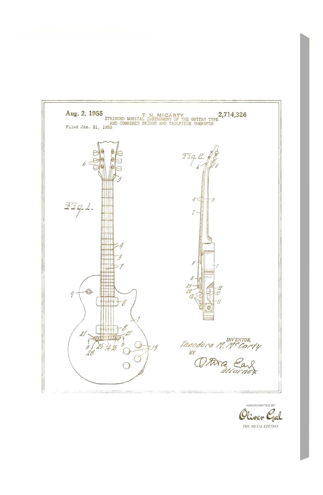 Alternate Image 1 Selected - Oliver Gal Gibson Les Paul Guitar 1955 Canvas Print
