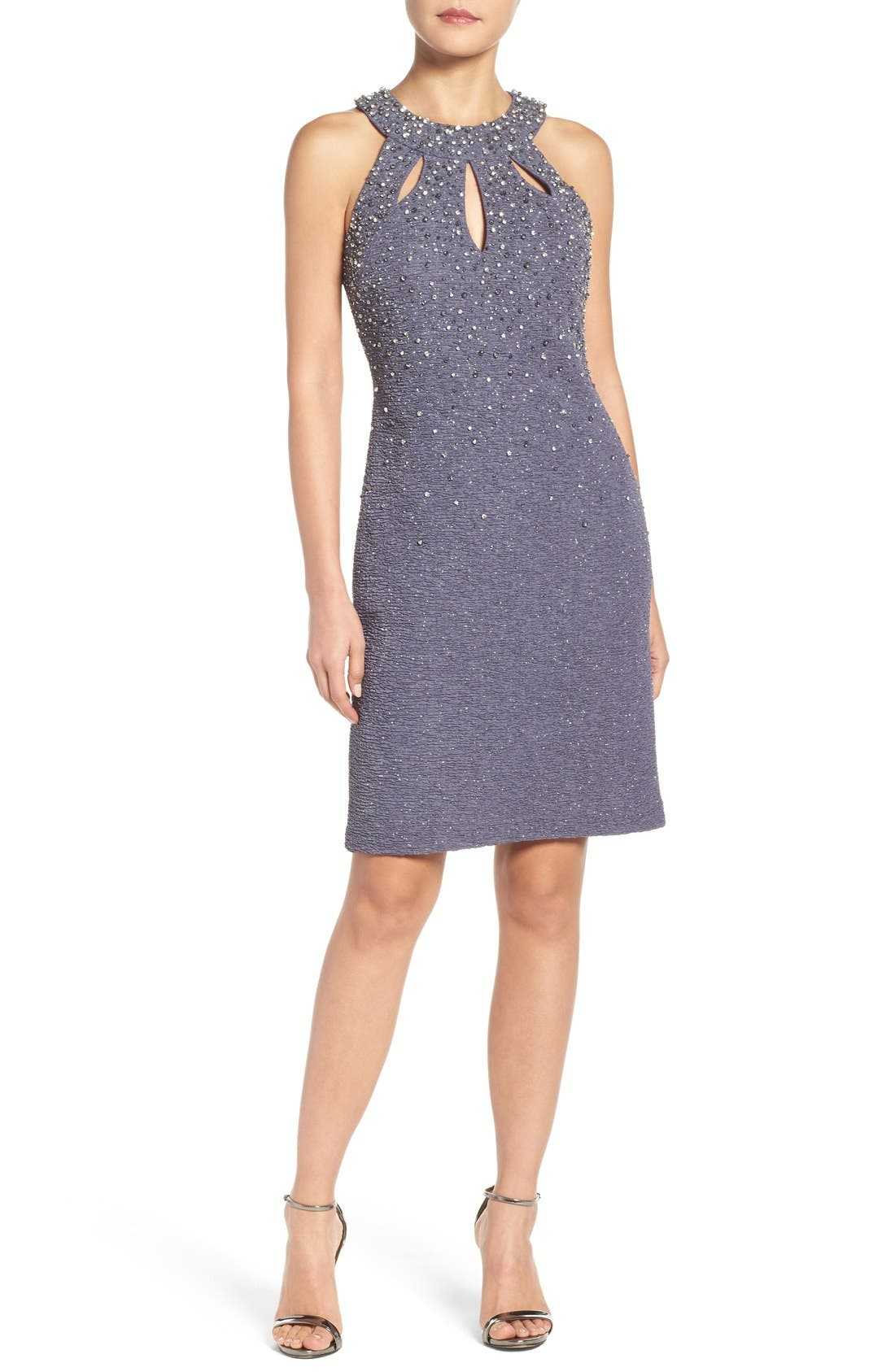 Alternate Image 5  - Eliza J Embellished Sheath Dress (Regular & Petite)