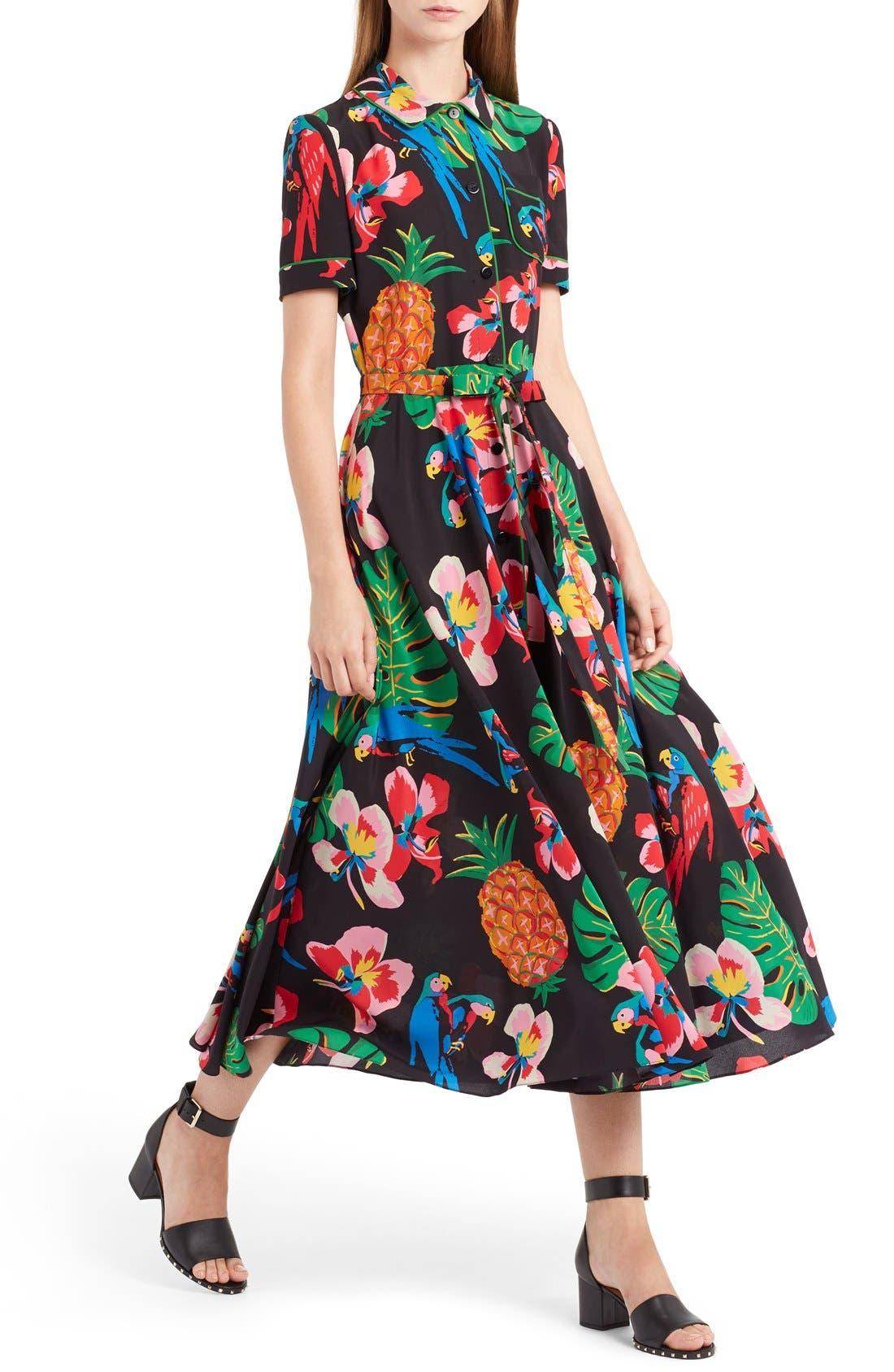 Alternate Image 5  - Valentino Tropical Dream Print Silk Dress