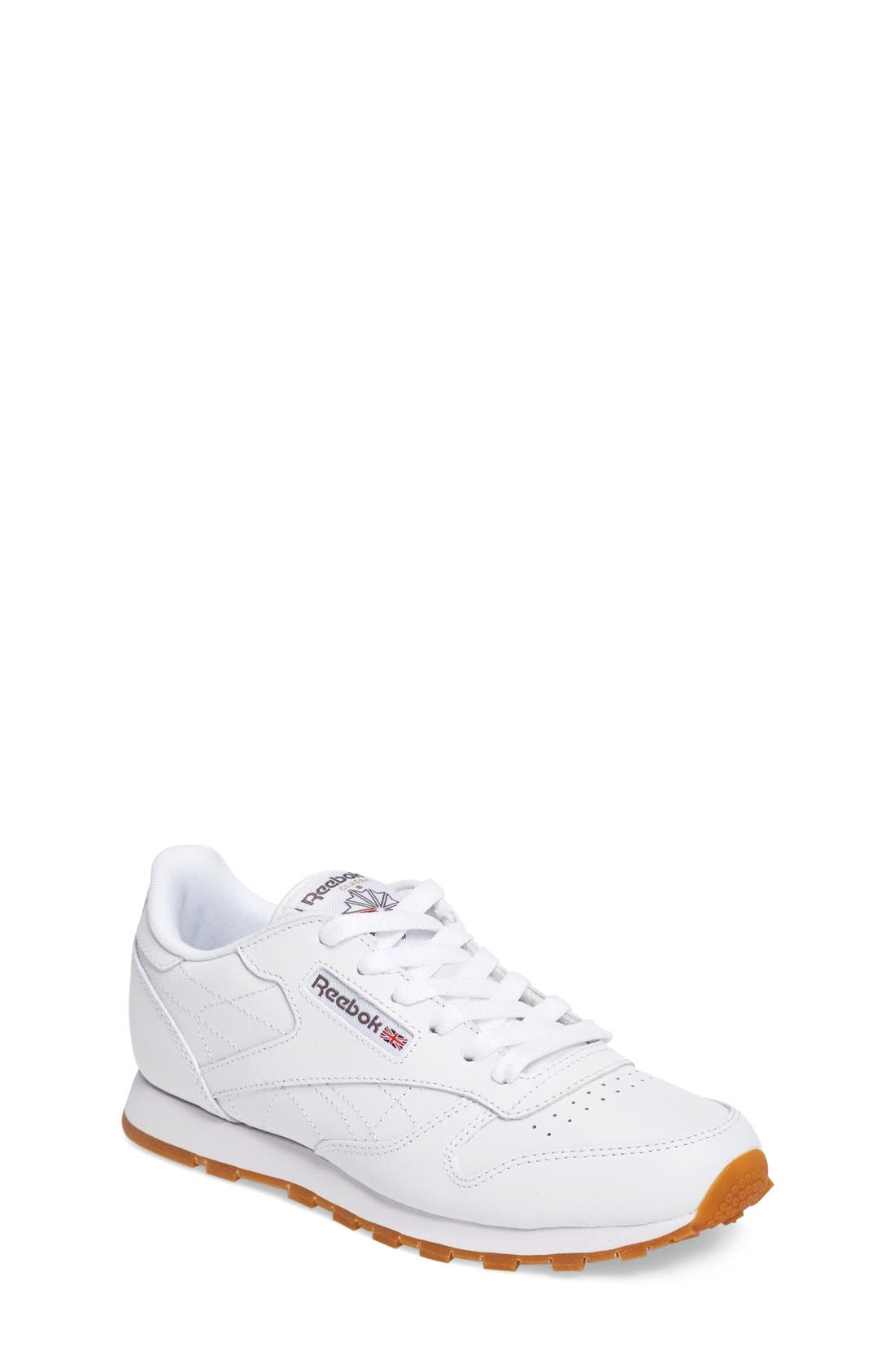 Classic Leather Sneaker,                             Main thumbnail 1, color,                             White