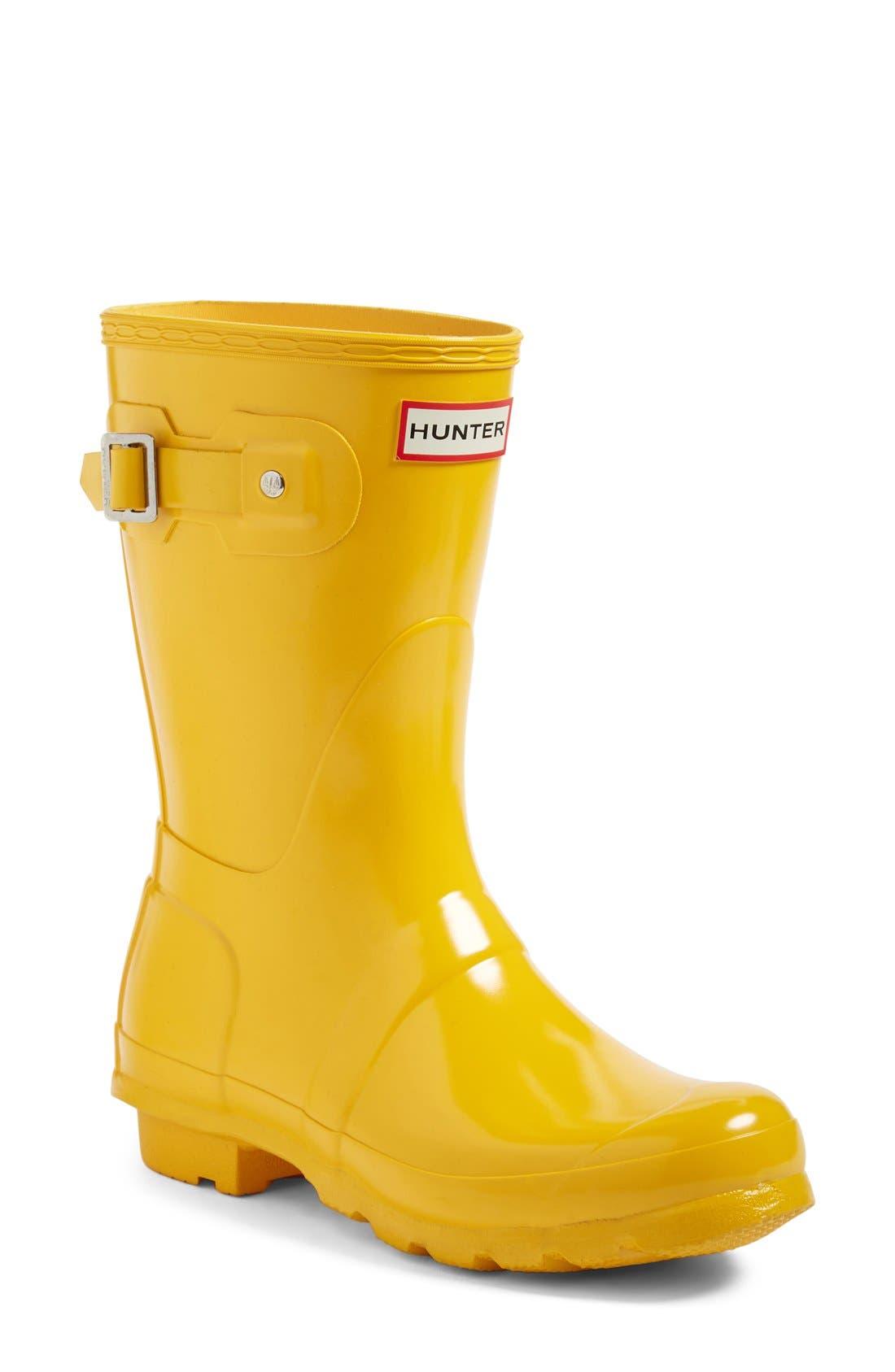 Main Image - Hunter 'Original Short' Gloss Rain Boot ...