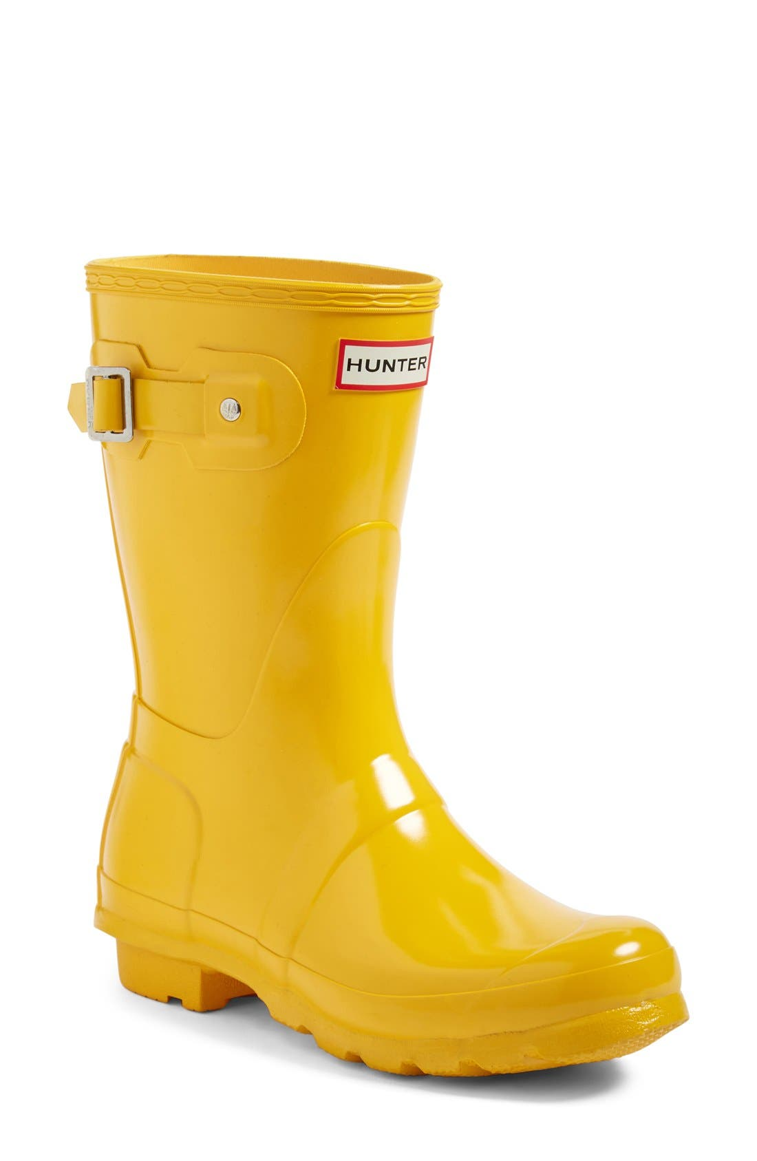 'Original Short' Gloss Rain Boot,                             Main thumbnail 1, color,                             Yellow