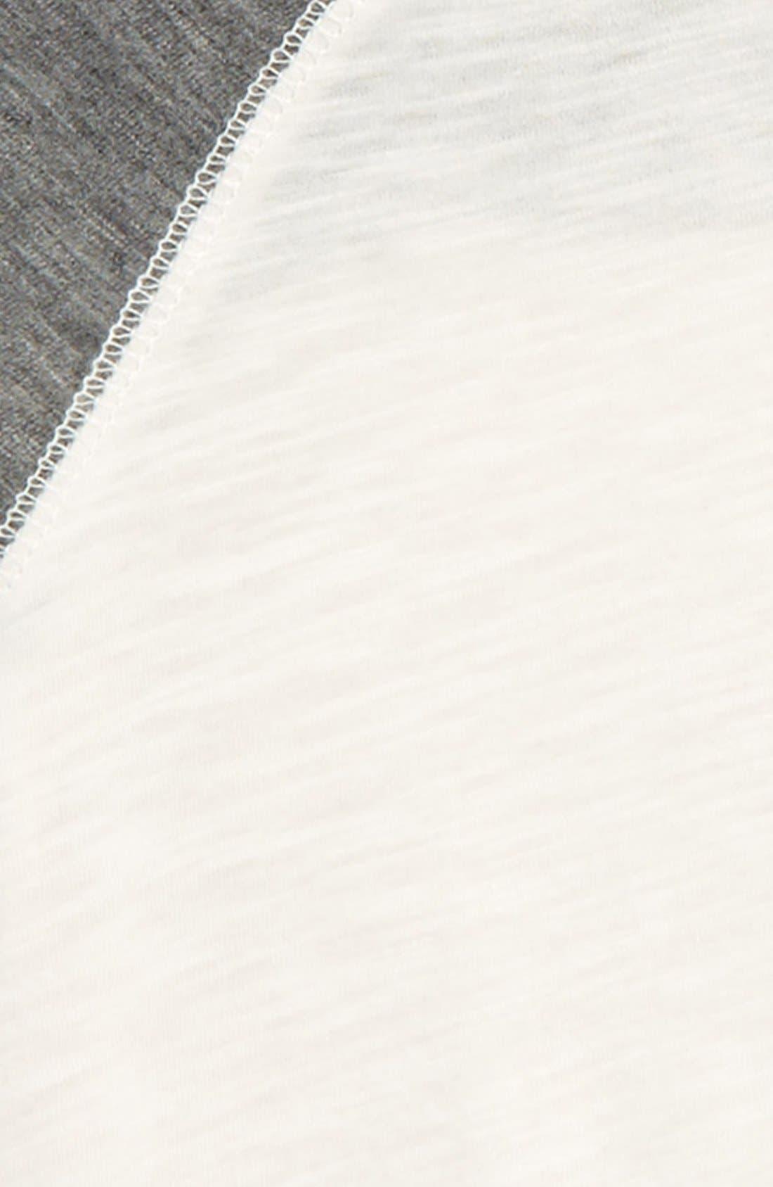 Slub Knit T-Shirt,                             Alternate thumbnail 2, color,                             Off White Grey