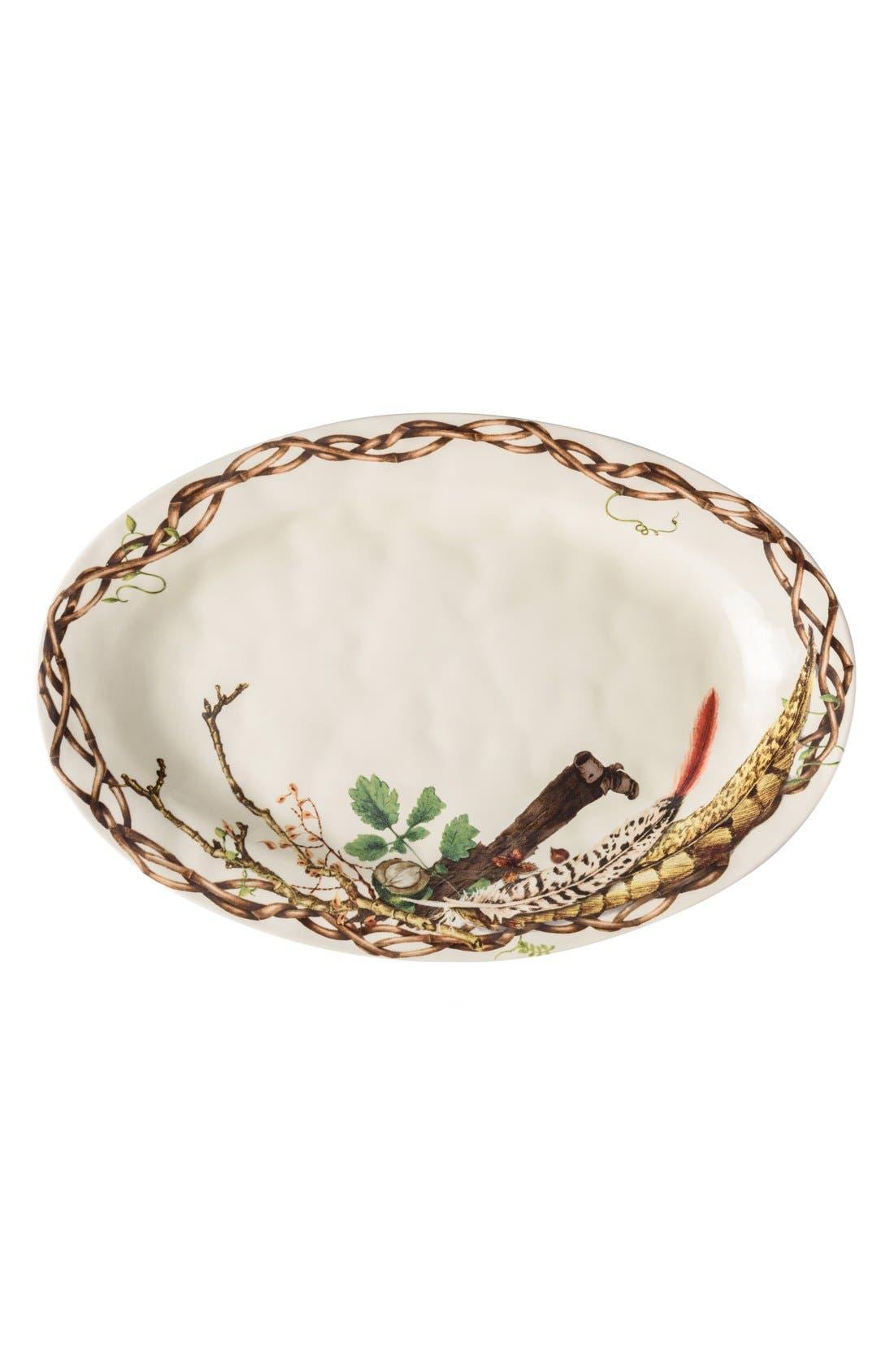 Forest Walk Oval Ceramic Platter,                         Main,                         color, Caf Au Lait