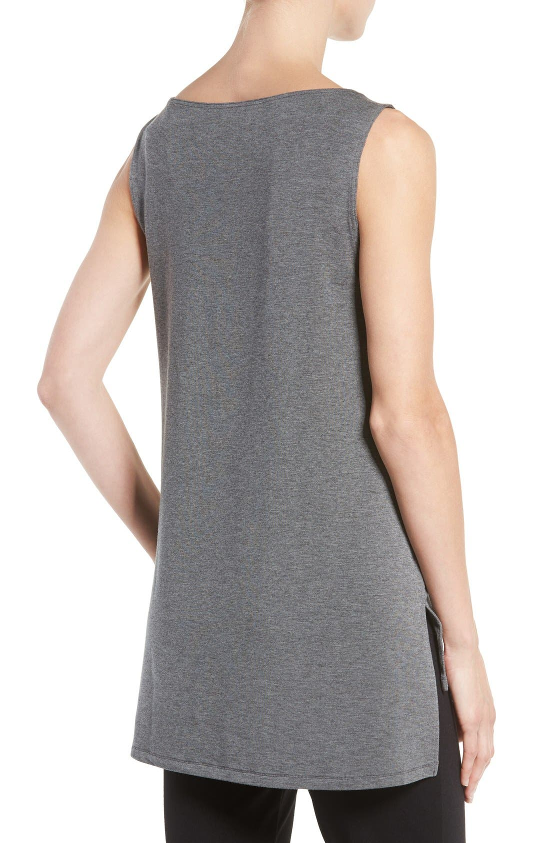 Stretch Tencel<sup>®</sup> Jersey Tank,                             Alternate thumbnail 2, color,                             Ash