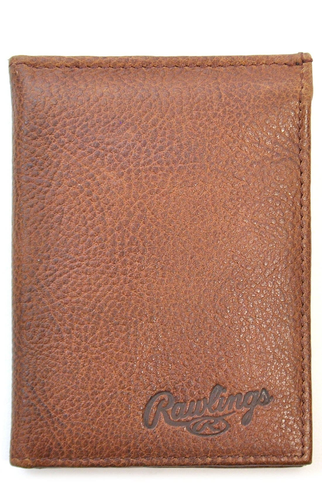 Alternate Image 1 Selected - Rawlings® Triple Play Leather L-Fold Wallet