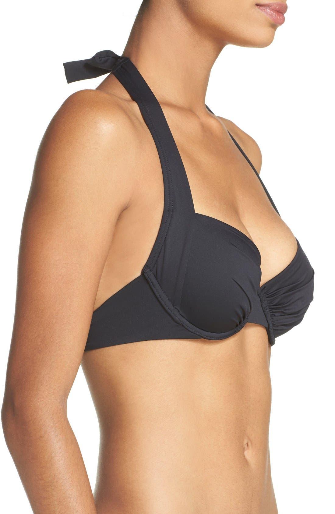 Alternate Image 3  - Tommy Bahama Underwire Halter Bikini Top