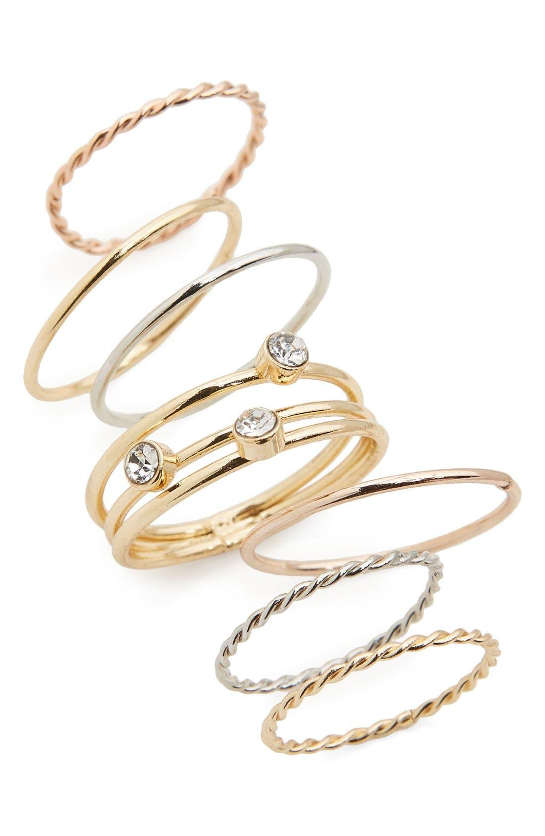 Main Image - BP. Set of 7 Assorted Rings